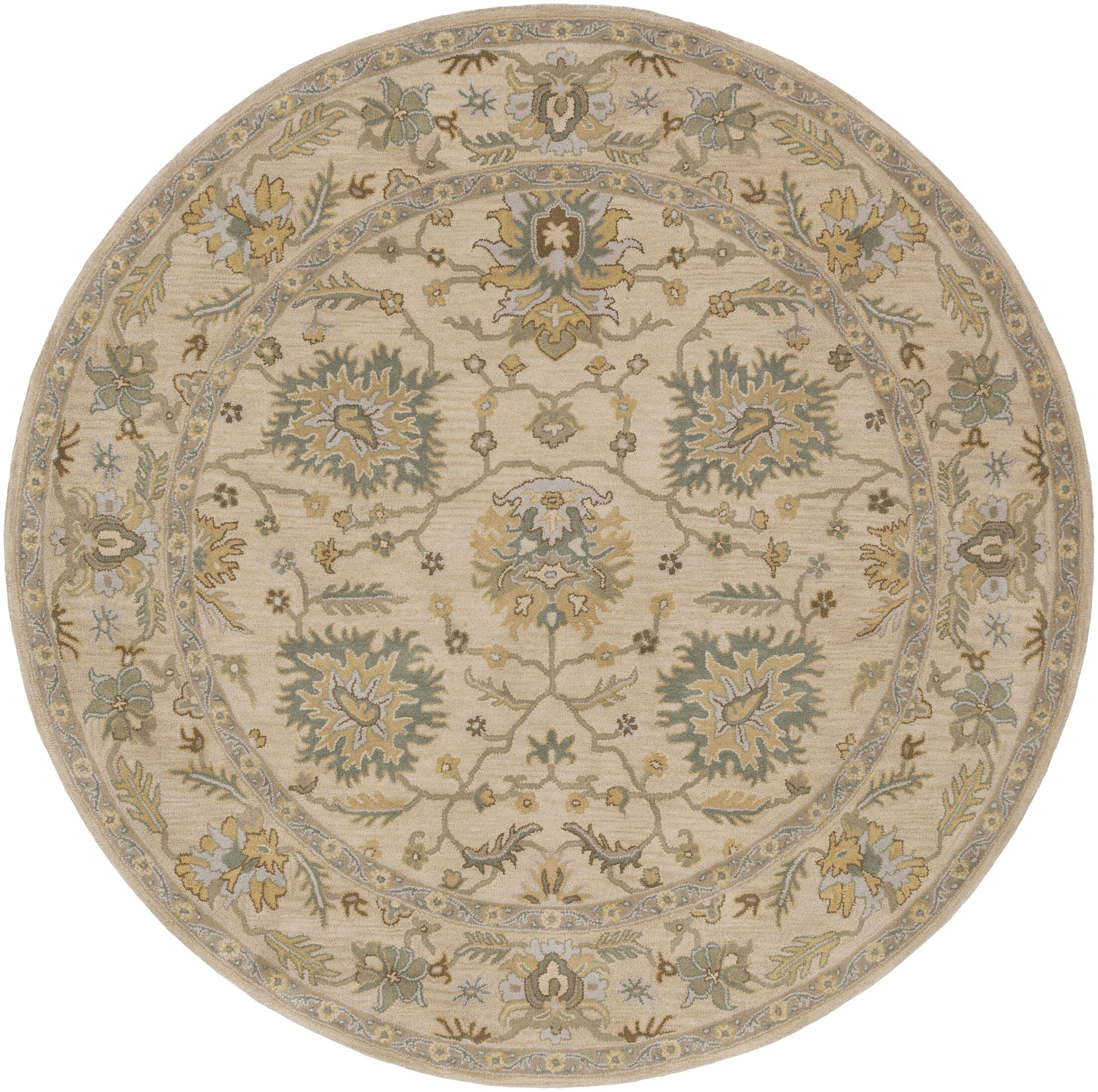 Millwood Hand-Tufted Green/Brown Area Rug Rug Size: Round 9'9