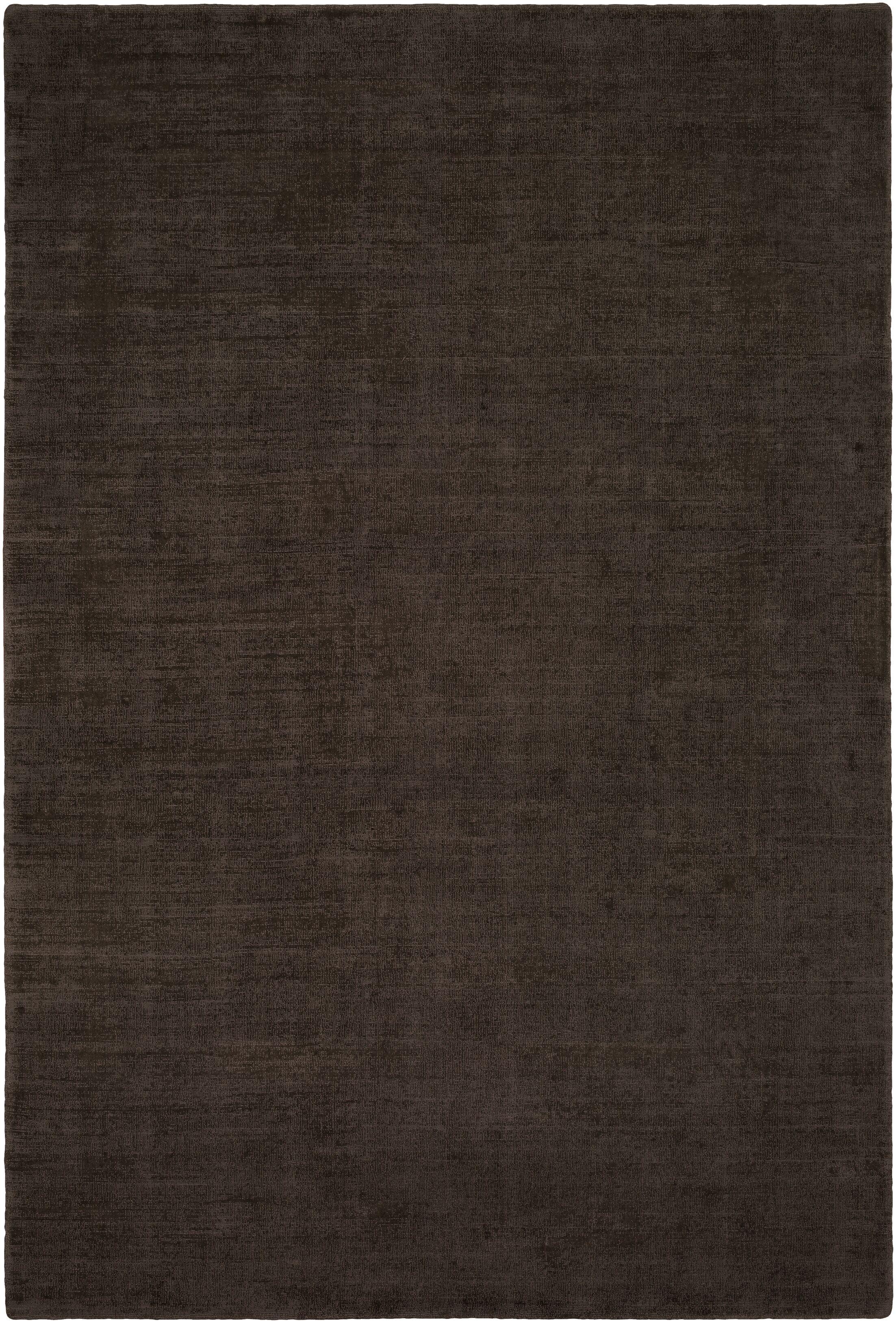 Laraine Hand-Loomed Black/Brown Area Rug Rug Size: Rectangle 6' x 9'