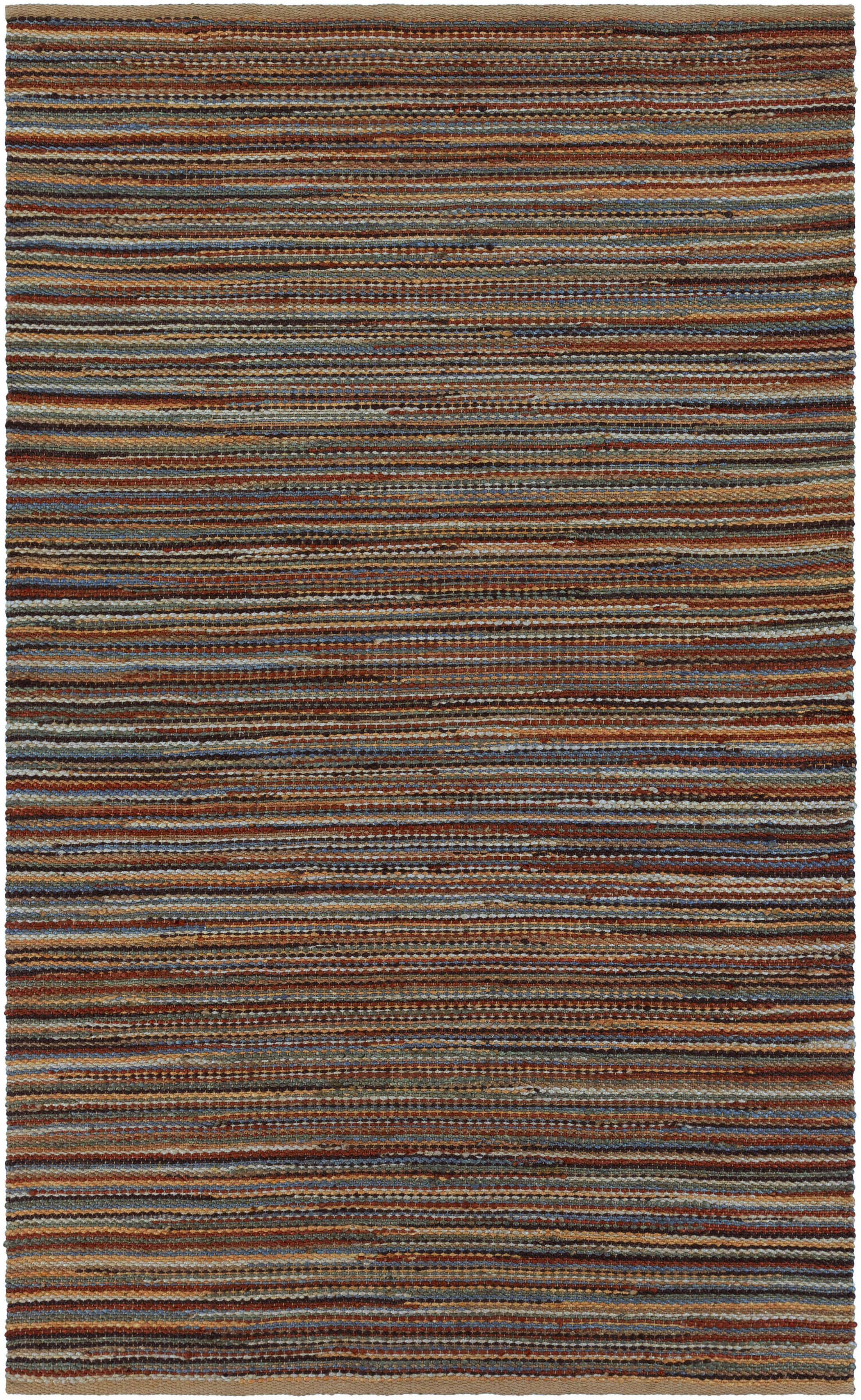 Pitcher Hand-Woven Red/Blue Area Rug Rug Size: Rectangle 5' x 7'6