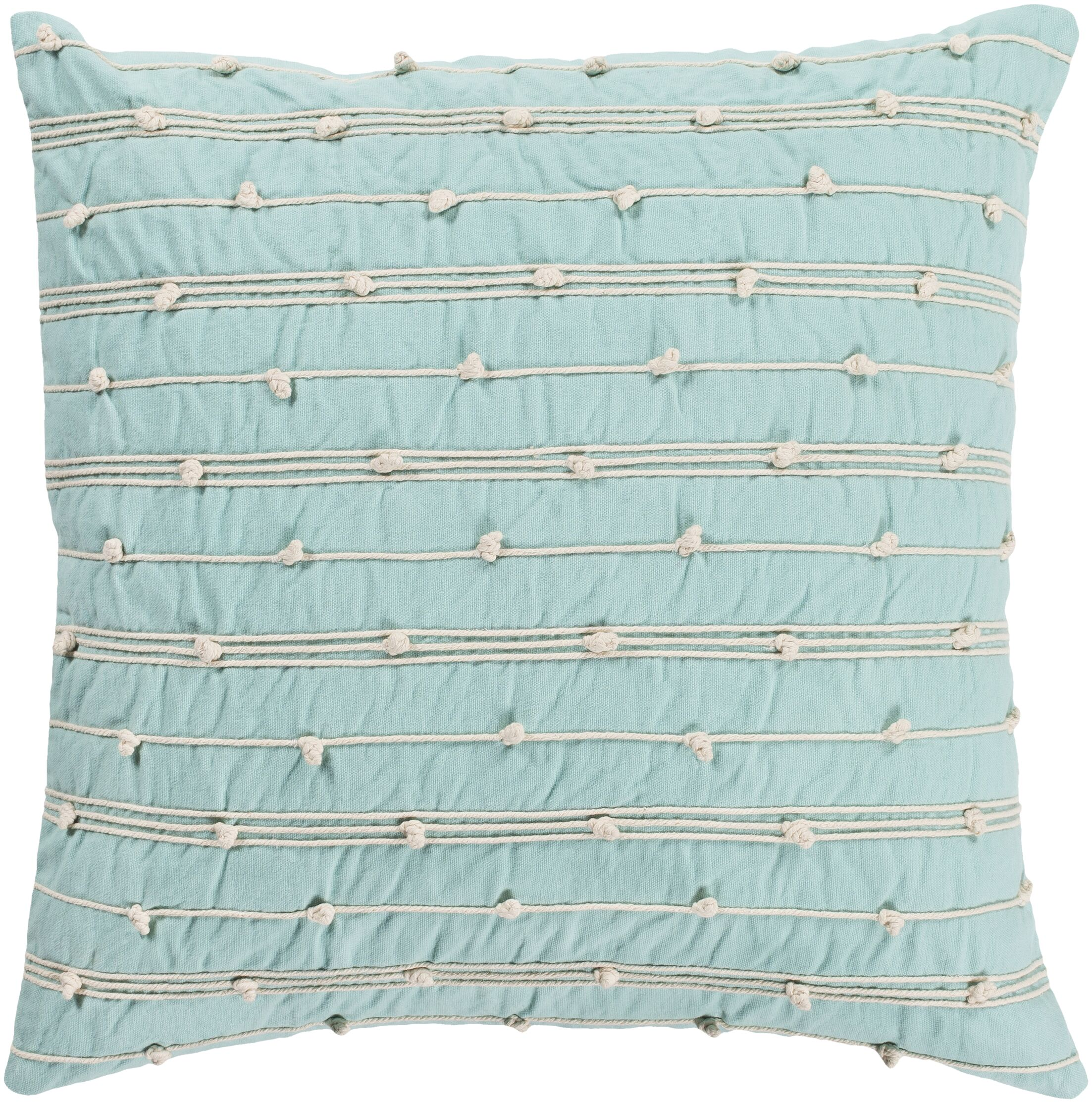 Bilbie Square Green 100% Cotton Throw Pillow Size: 22