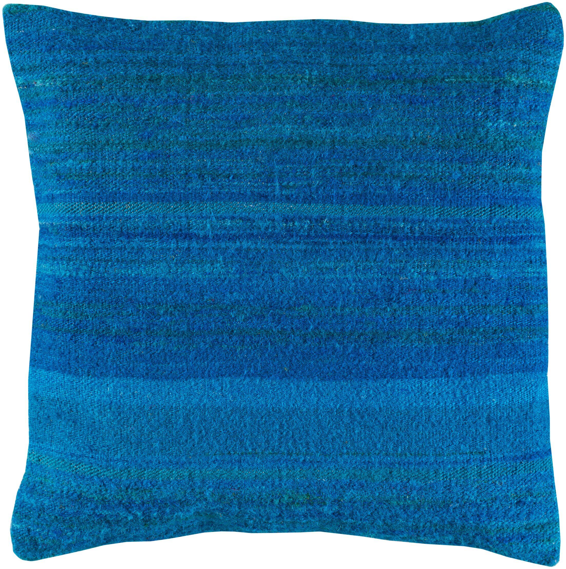 Jabari Throw Pillow Fill Material: Down Fill, Color: Sky Blue