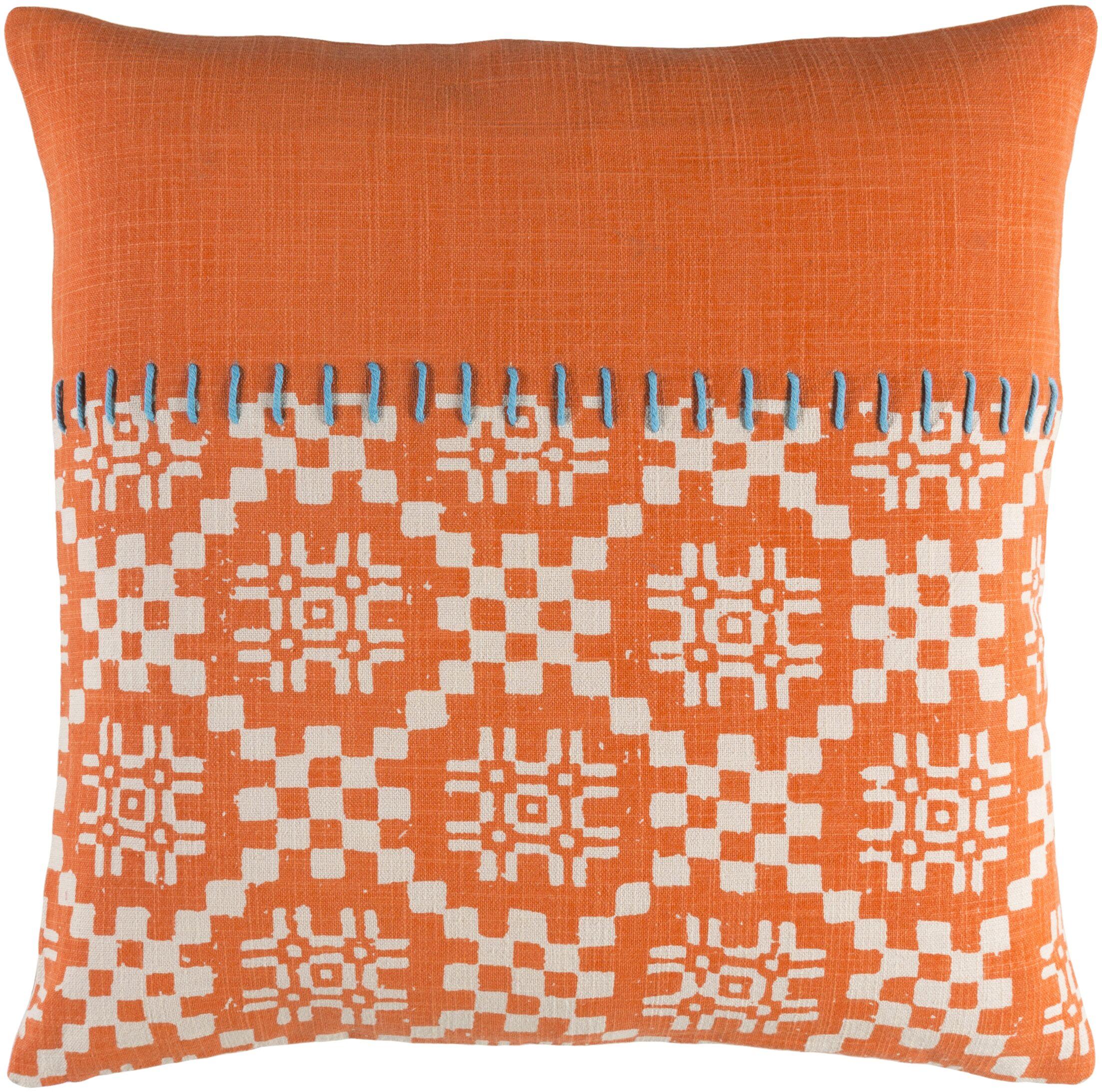 Mayson 100% Cotton Throw Pillow Size: 20