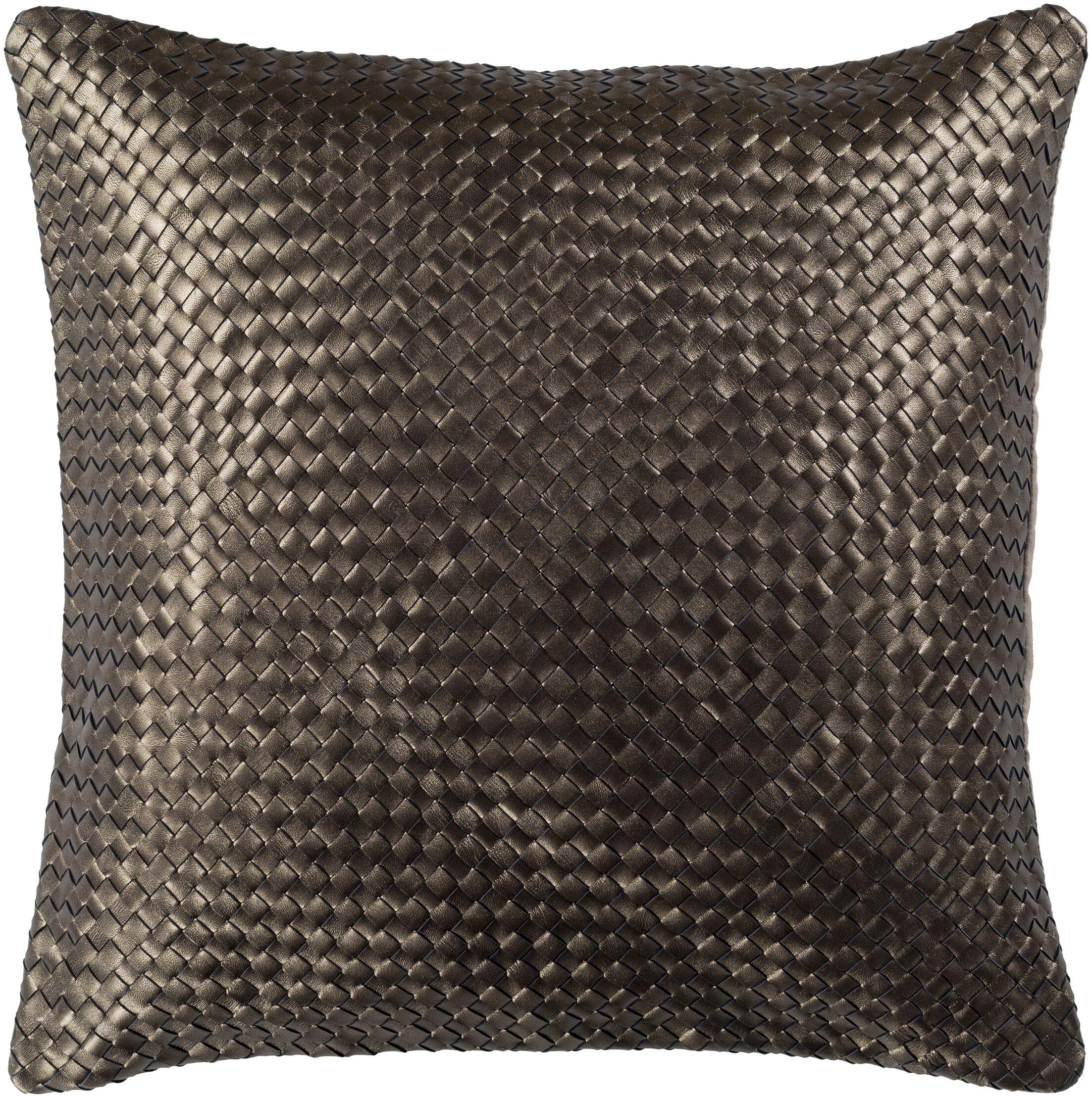 Sherlene Pillow Cover Color: Dark Brown