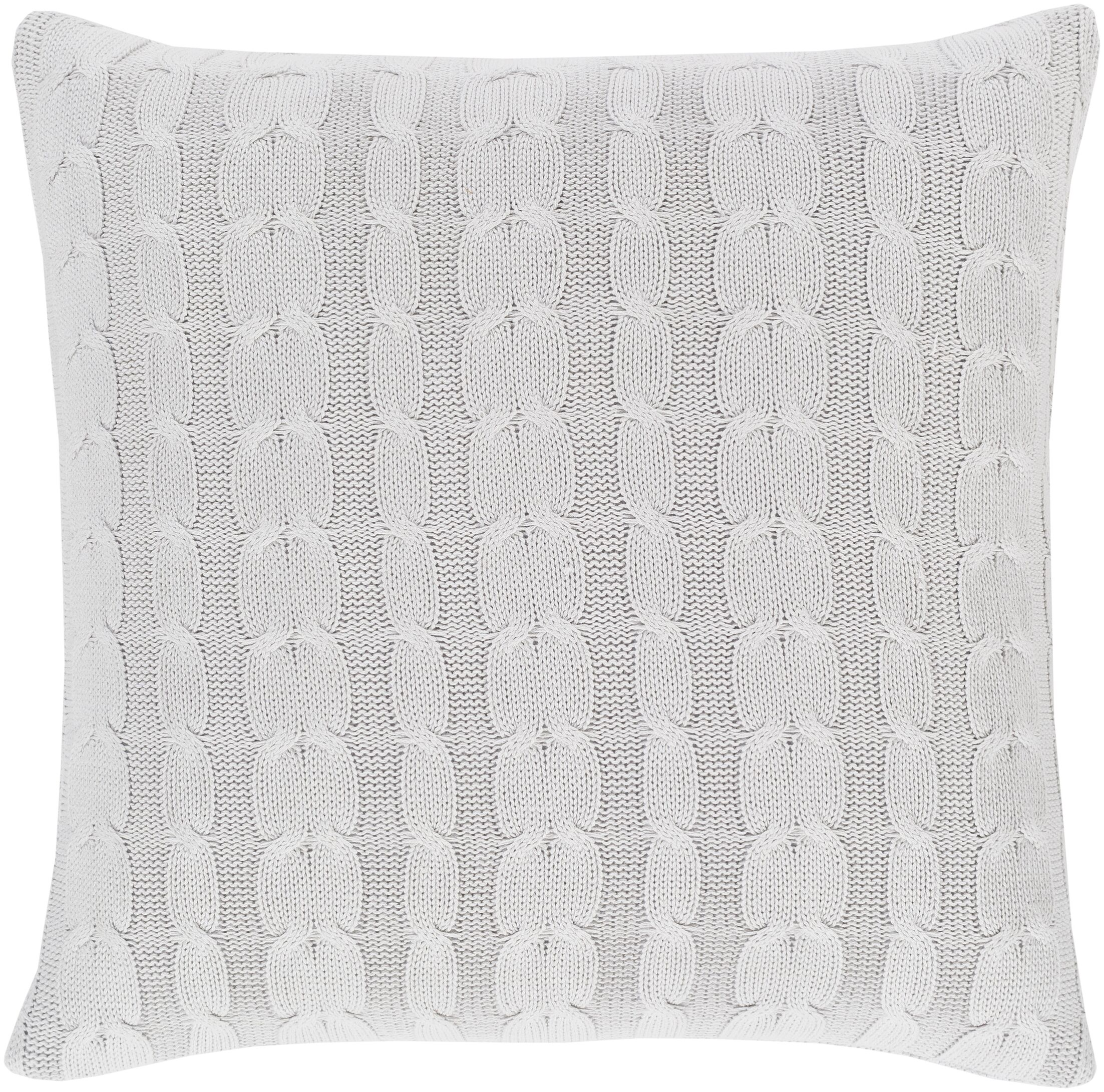 Gardiner 100% Cotton Throw Pillow Fill Material: Down Fill, Color: Light Gray