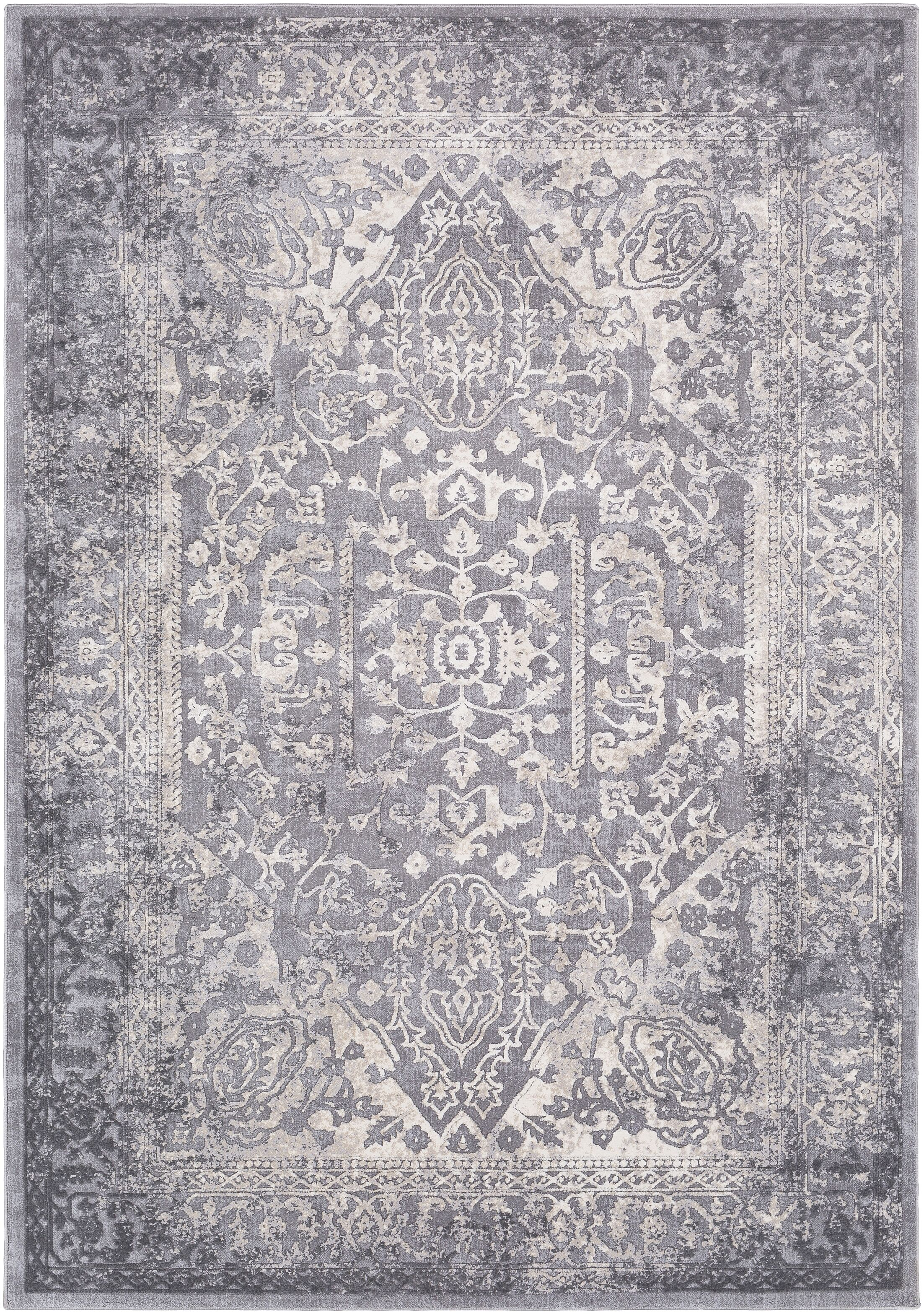 Thissell Vintage Persian Medallion Gray Area Rug Rug Size: Rectangle 6'7