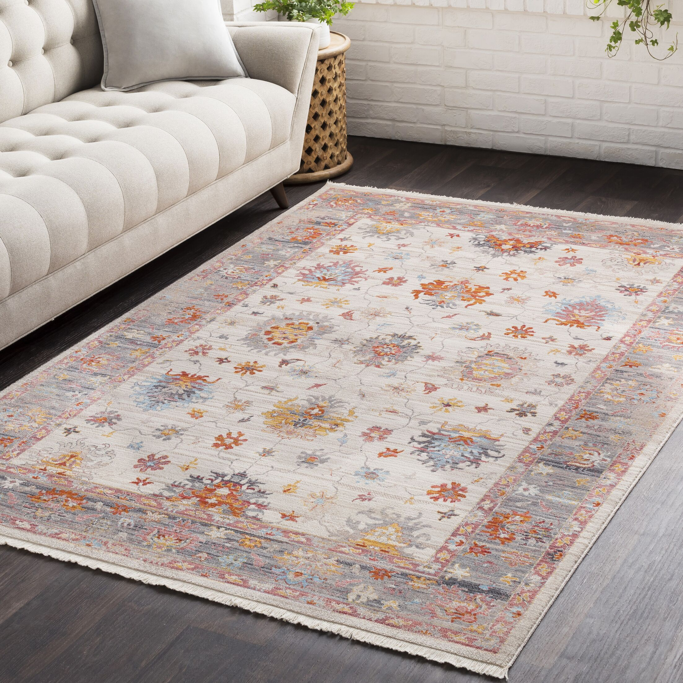 Mendelsohn Vintage Persian Traditional Beige/Red Area Rug Rug Size: Rectangle 9' x 12'10