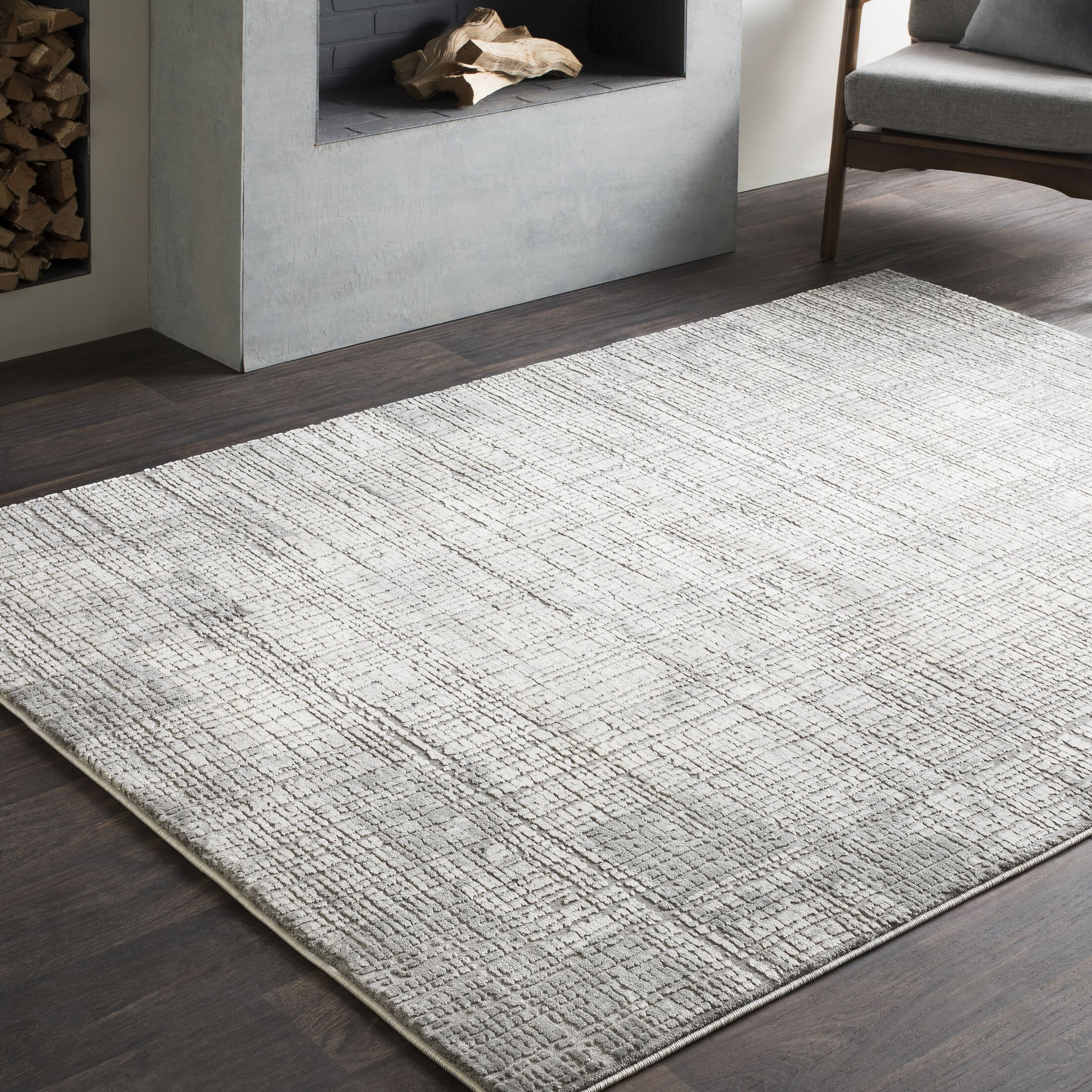 Bridgeton Distressed Modern Abstract Gray/Cream Area Rug Rug Size: Rectangle 5'3