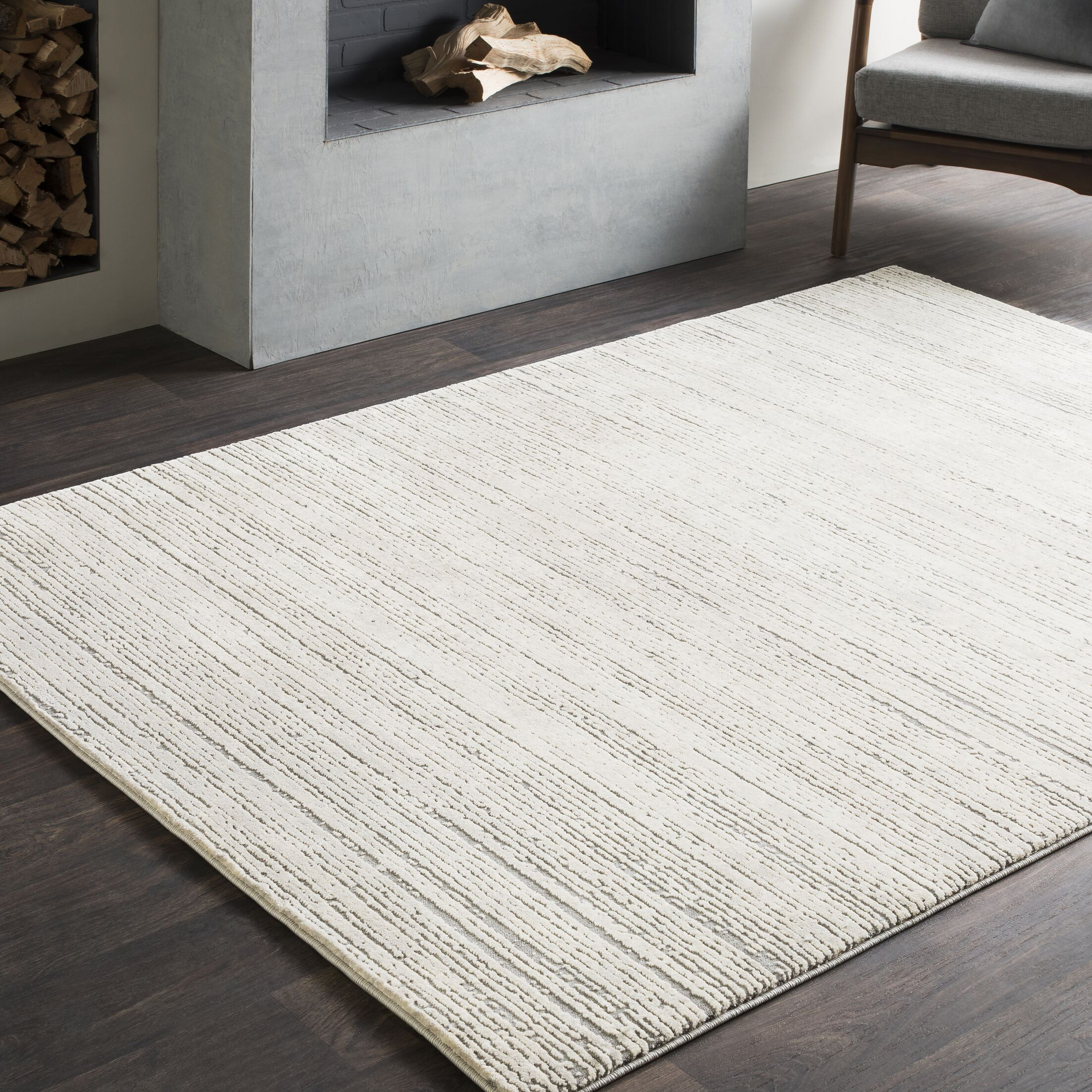 Bridgeton Distressed Modern Sleek Gray/Cream Area Rug Rug Size: Runner 2'7