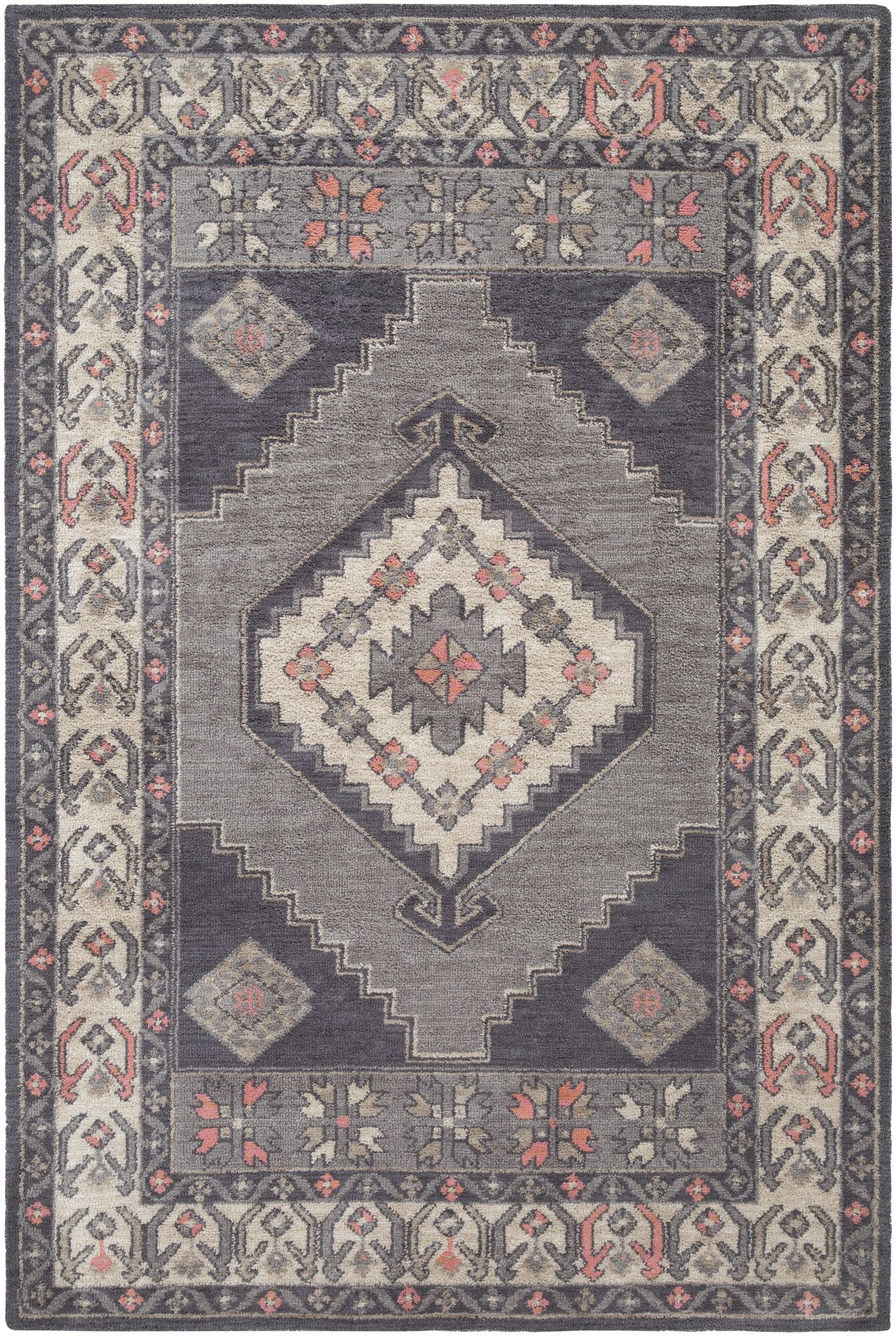 Robbins Gray Area Rug Rug Size: Runner 2'3