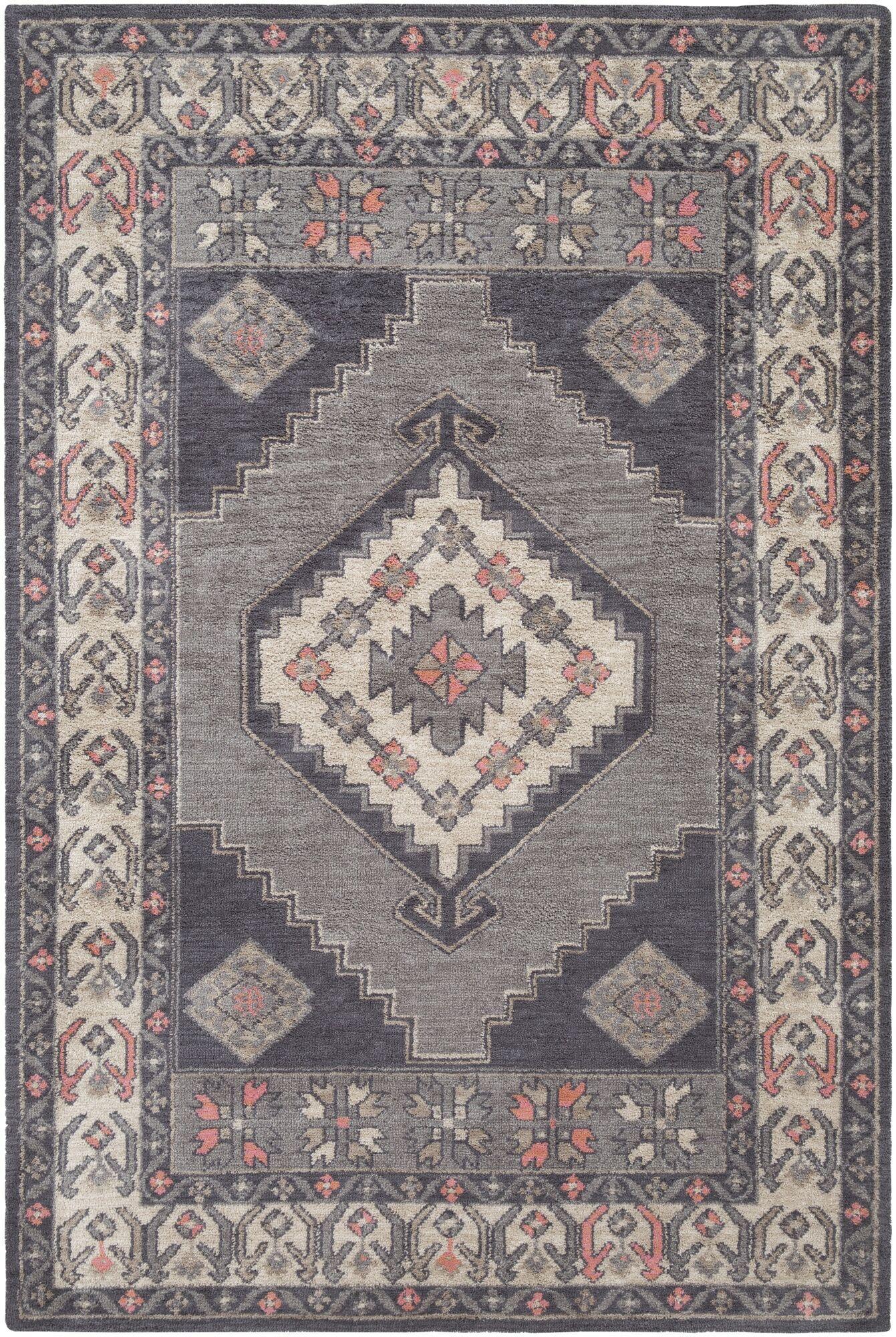 Robbins Gray Area Rug Rug Size: Rectangle 5' x 7'6