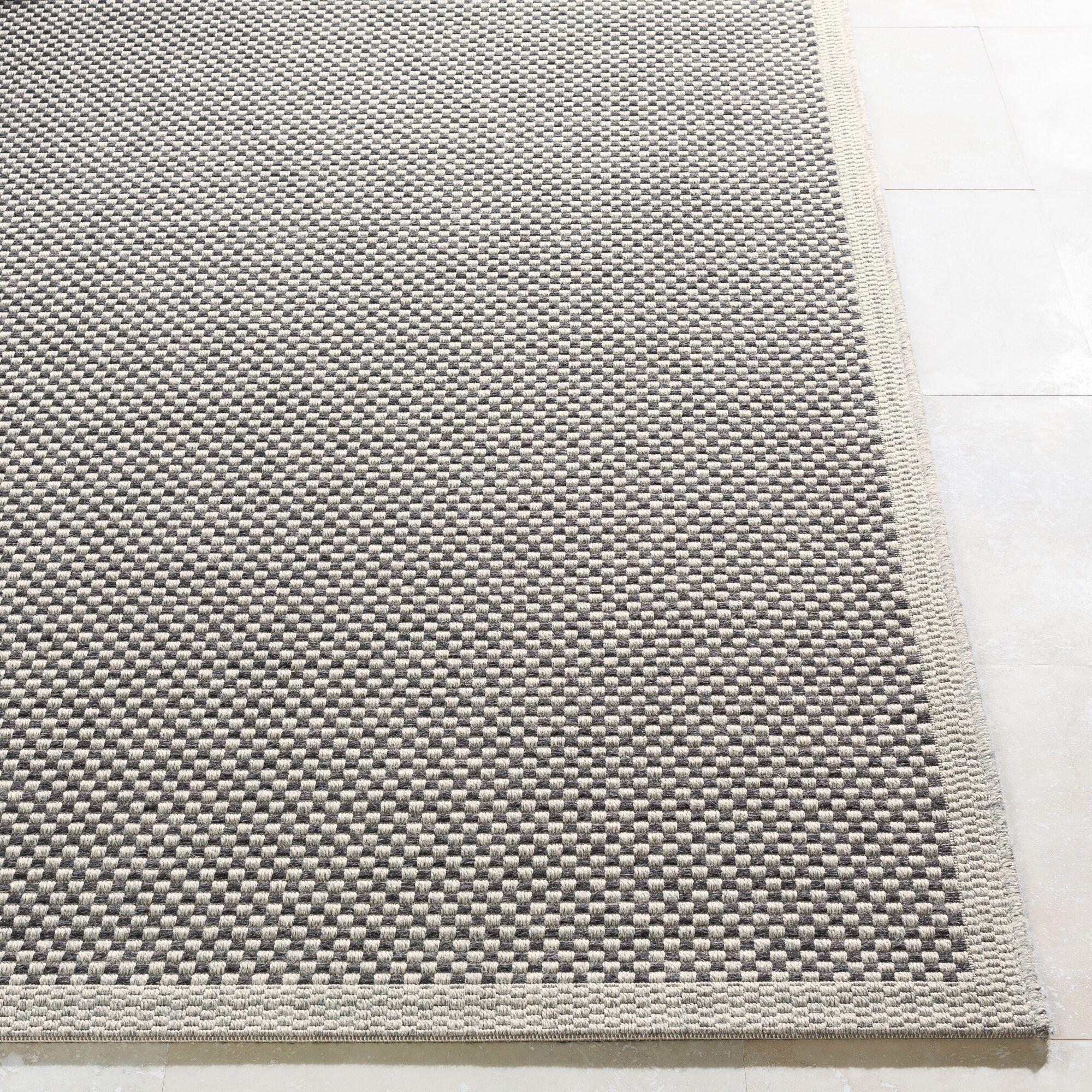 Sarang Light Gray Indoor/Outdoor Area Rug Rug Size: Rectangle 7'10