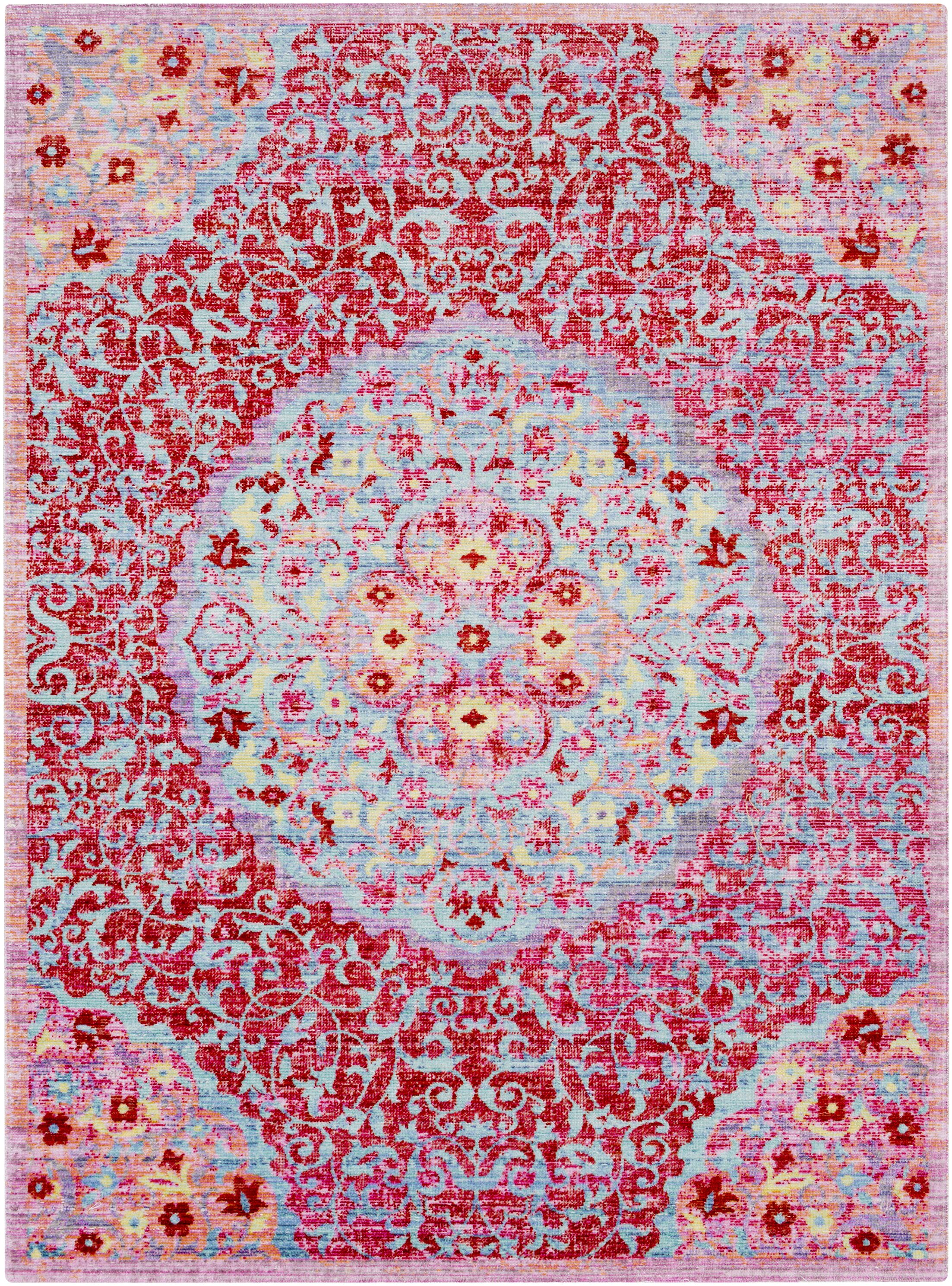 Lyngby-Taarbæk Classic Red Area Rug Rug Size: Rectangle 9'3