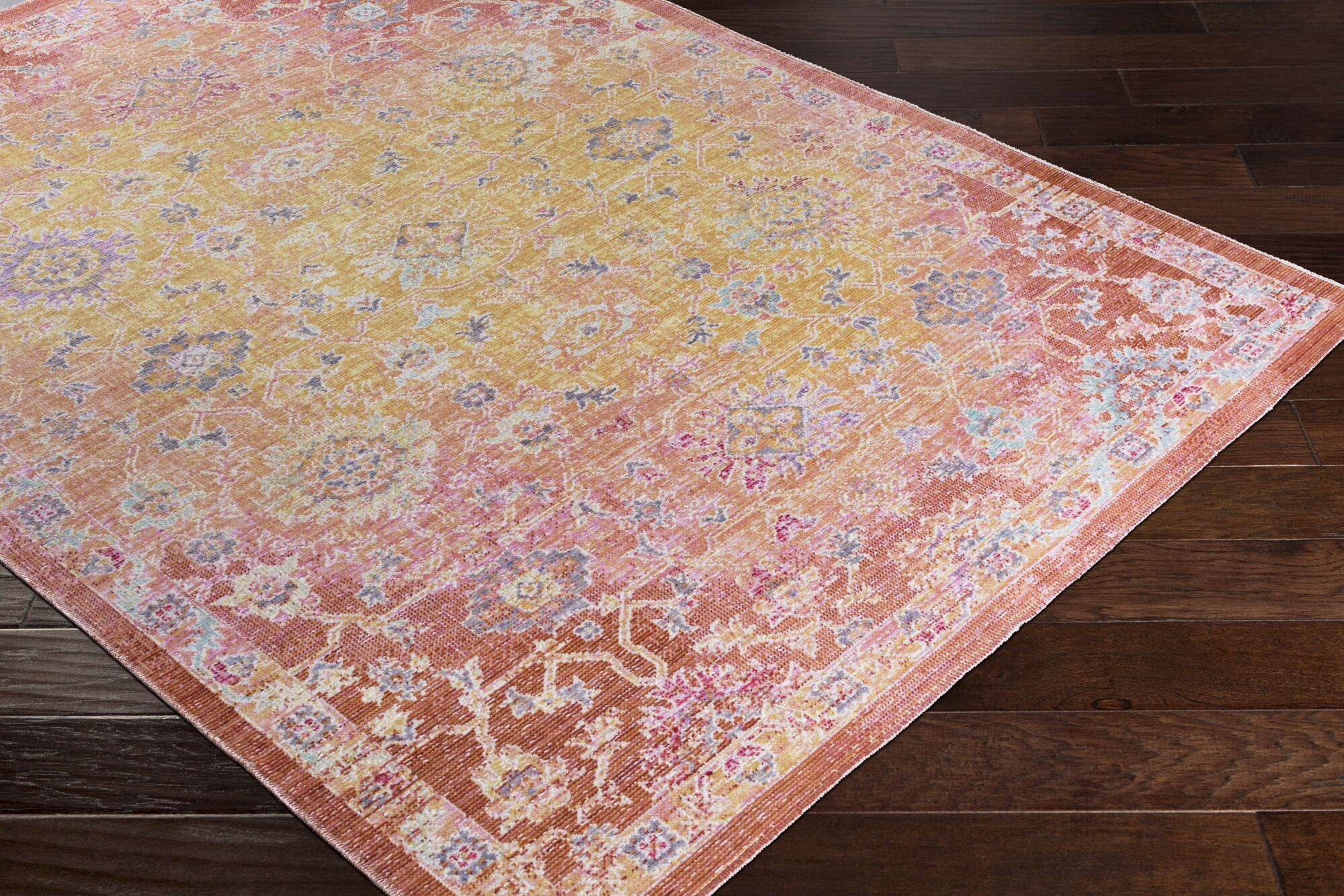 Lyngby-Taarbæk Classic Bright Yellow Area Rug Rug Size: Rectangle 9'3