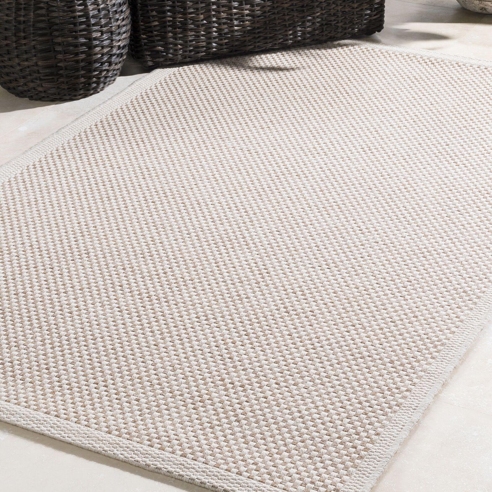 Sarang Beige Indoor/Outdoor Area Rug Rug Size: Rectangle 5' x 7'6