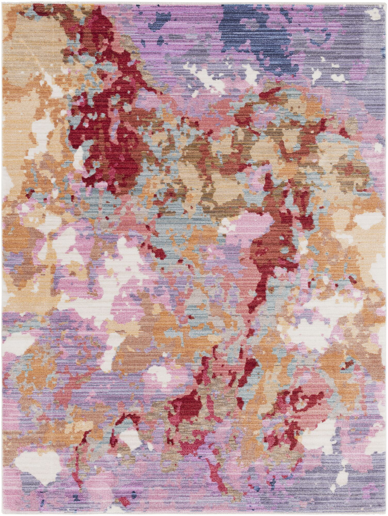 Turner Modern Abstract Pink Area Rug Rug Size: Rectangle 3'11