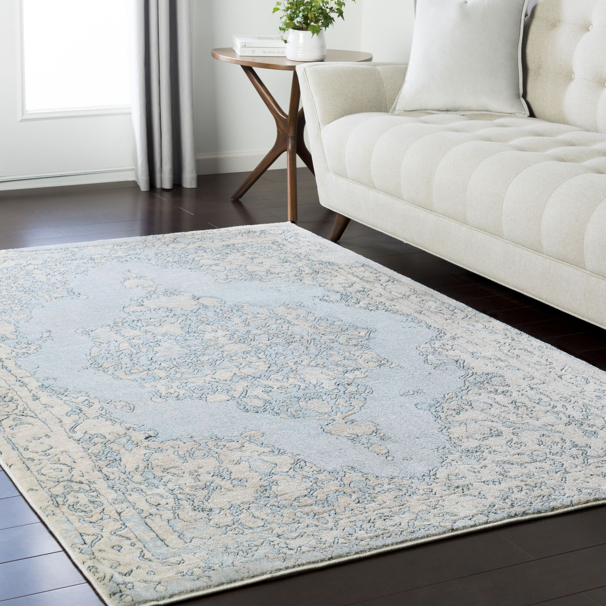 Synthia Blue/Green Area Rug Rug Size: Rectangle 6'7