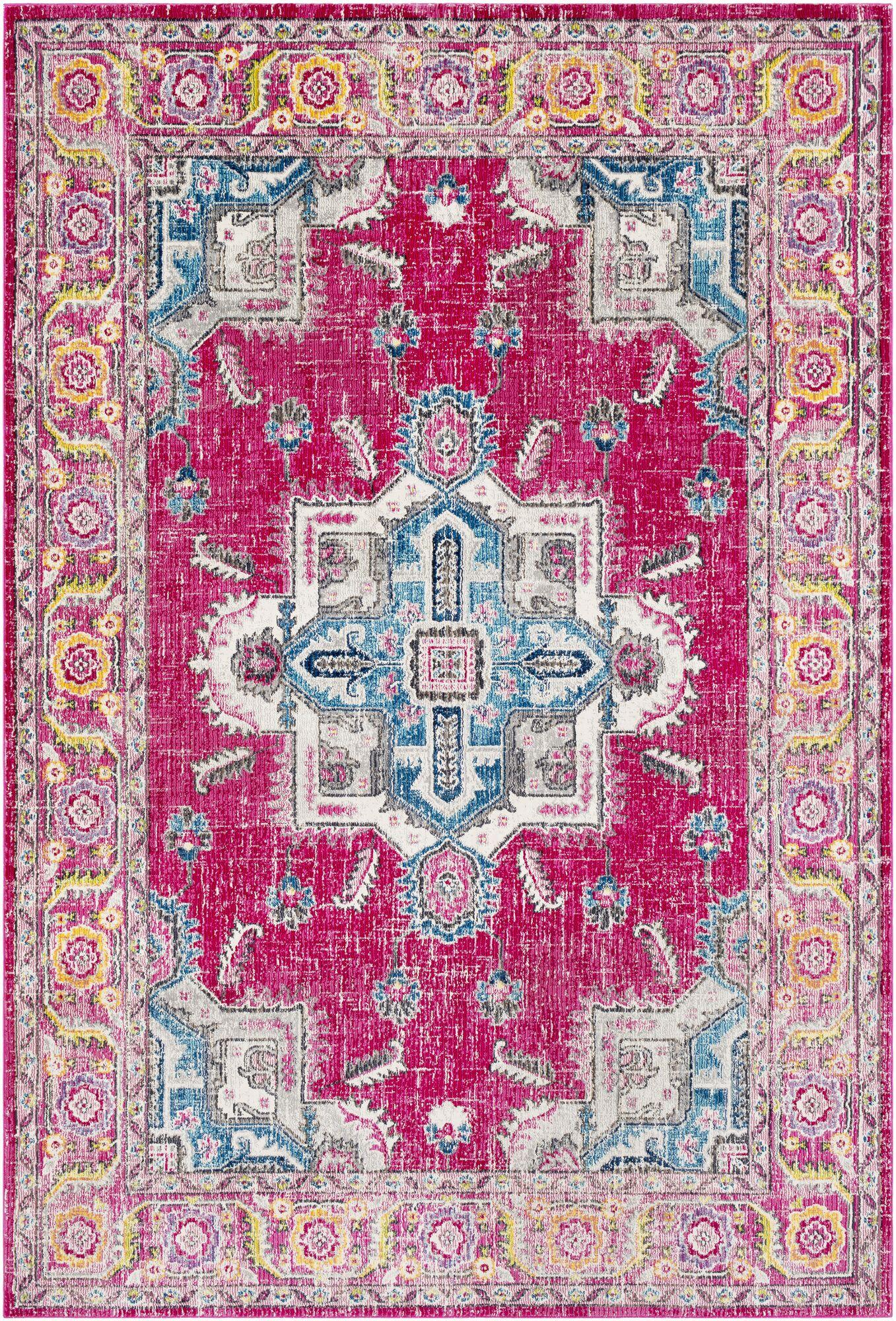 Tillamook Pink/Rose Area Rug Rug Size: Rectangle 7'10