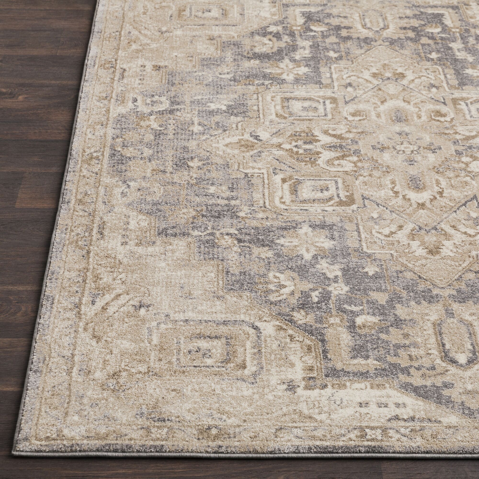 Richmondville Vintage Blue/Cream Area Rug Rug Size: Rectangle 9' x 12'