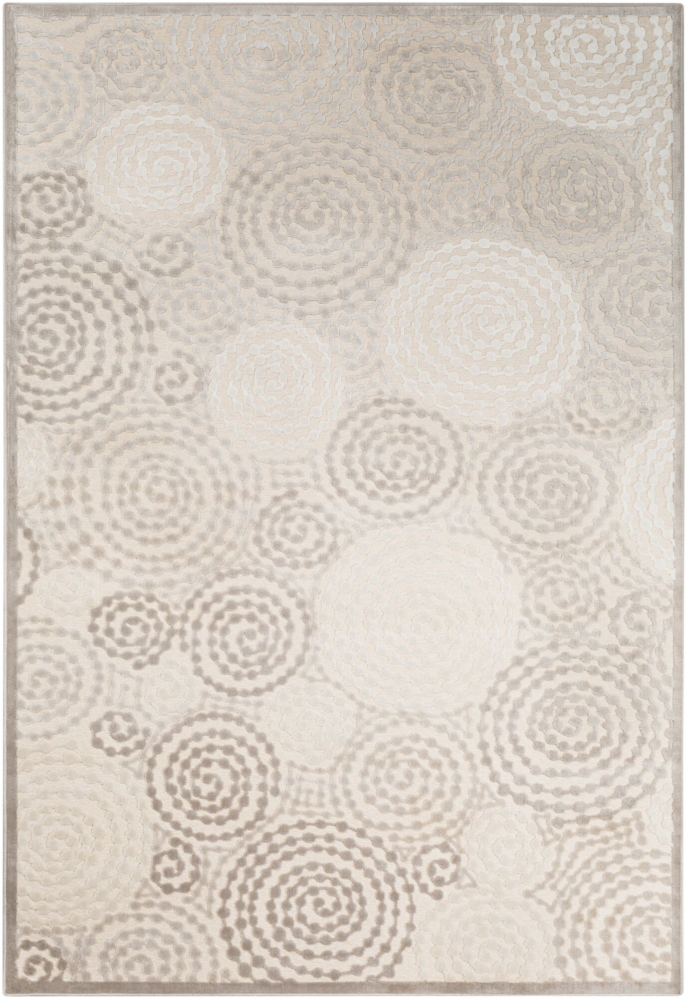 Reva Transitional Swirl Cream Area Rug Rug Size: Rectangle 4' x 5'7