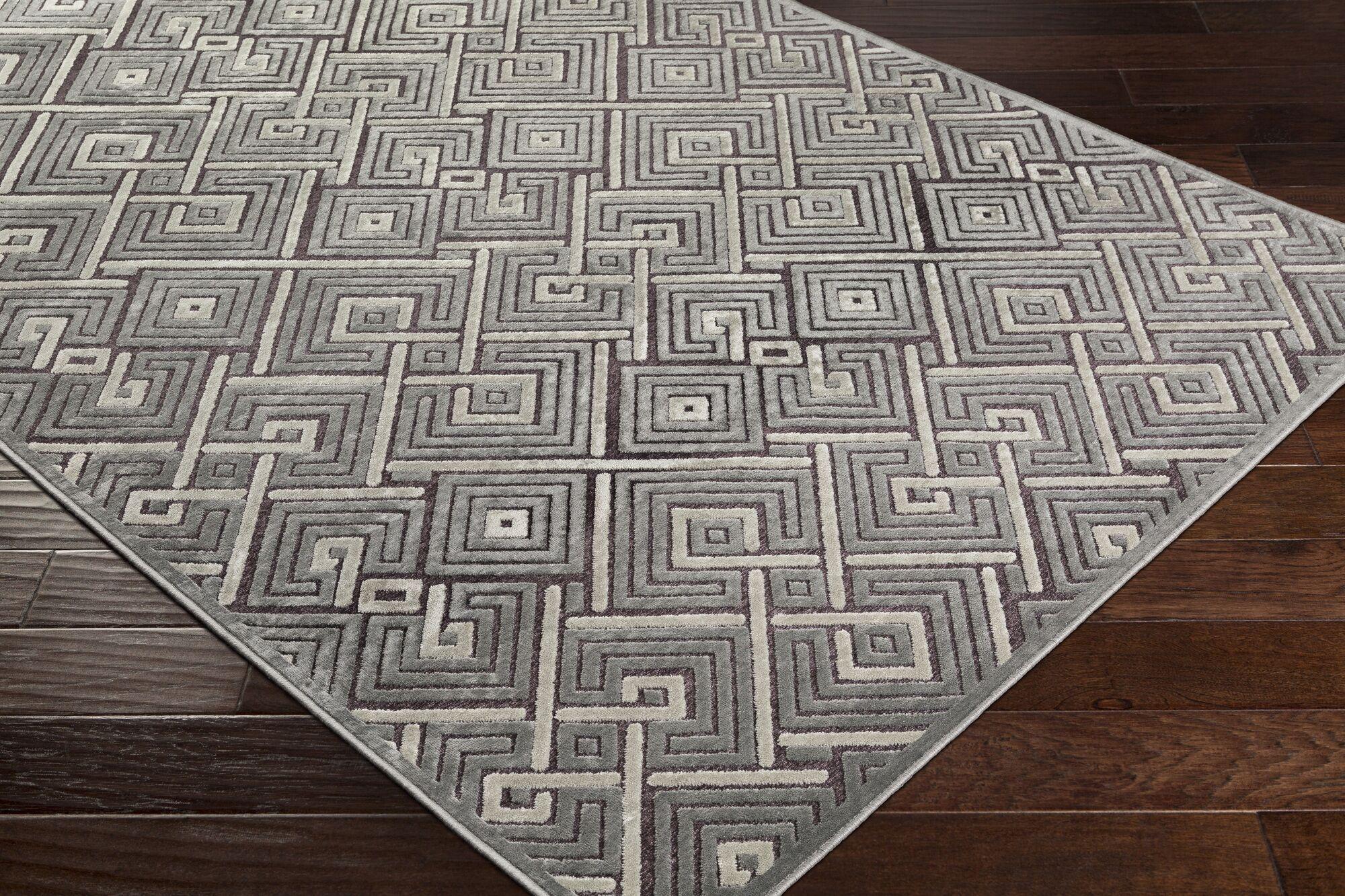 Pugh Modern Geometric Medium Gray Area Rug Rug Size: Rectangle 8'8