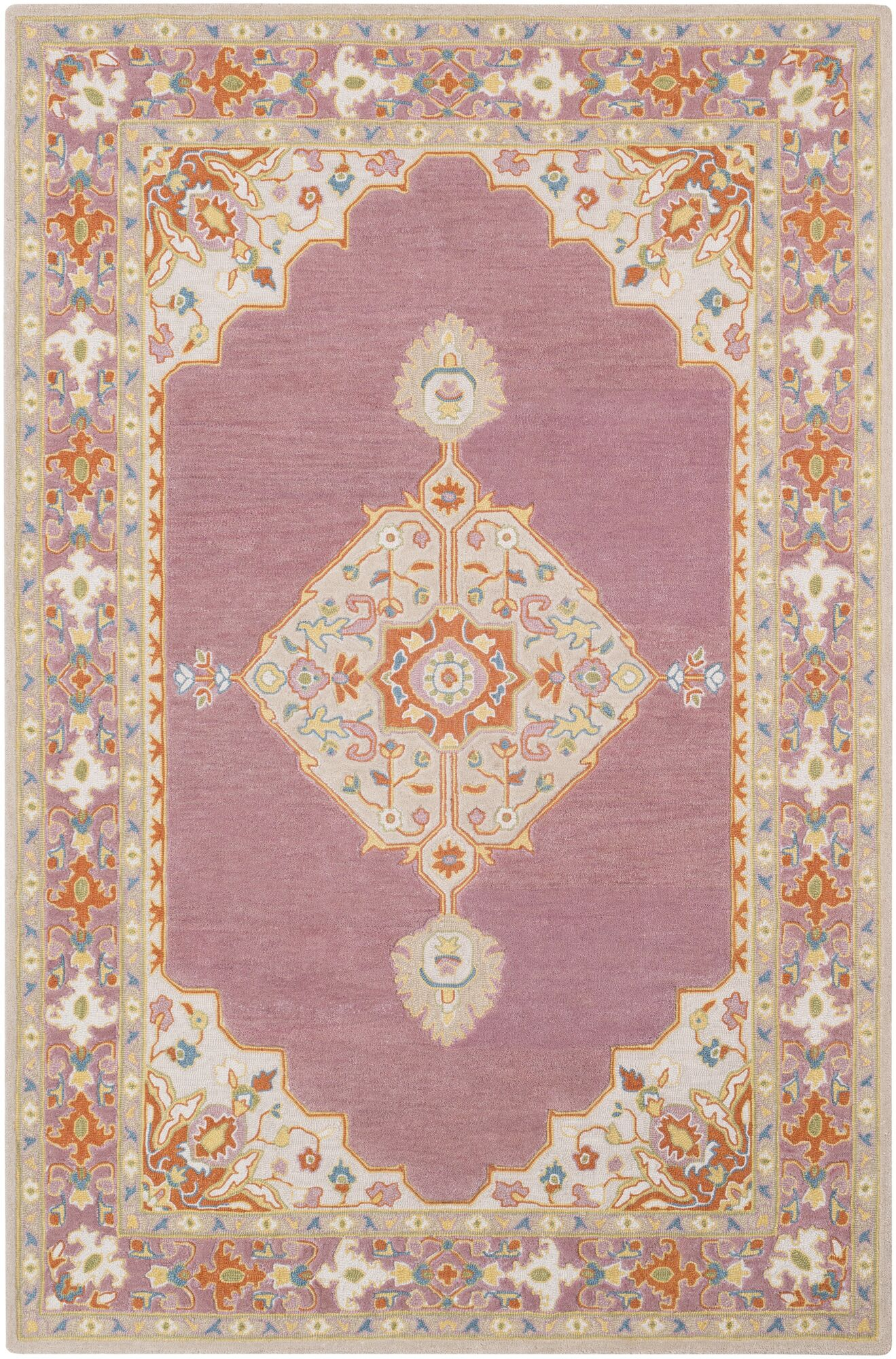 Edgerly Hand Tufted Wool Mauve Area Rug Rug Size: Rectangle 8' x 10'