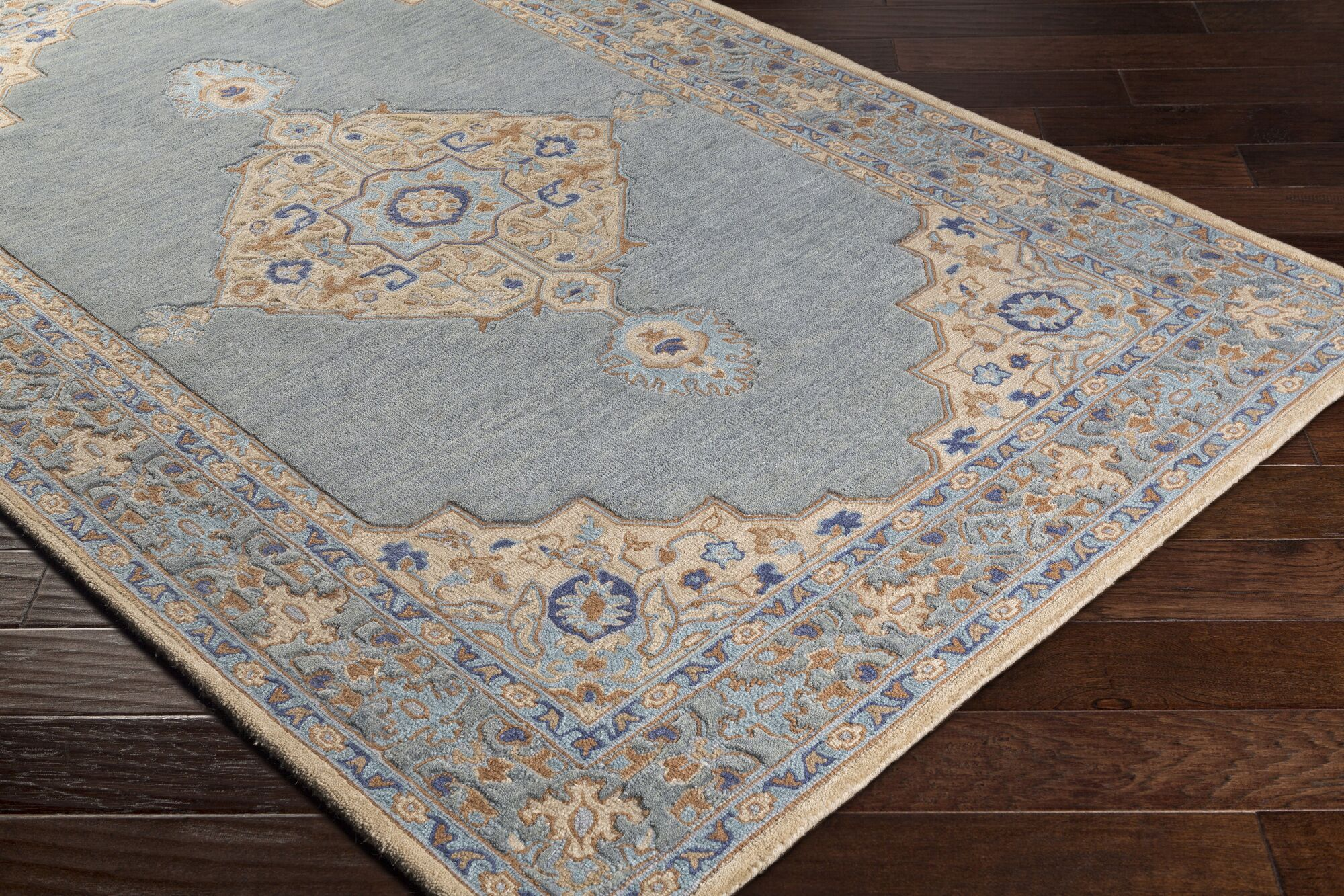 Edgerly Hand Tufted Wool Khak/Gray Area Rug Rug Size: Rectangle 8' x 10'
