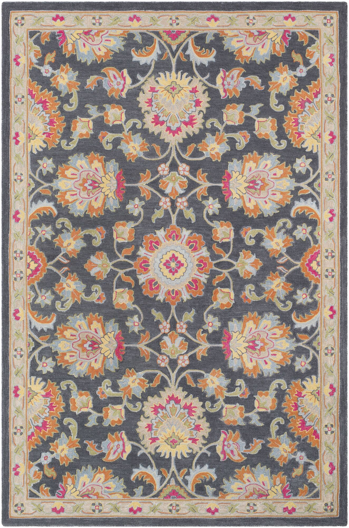 Edgerly Hand Tufted Wool Charcoal Area Rug Rug Size: Rectangle 8' x 10'