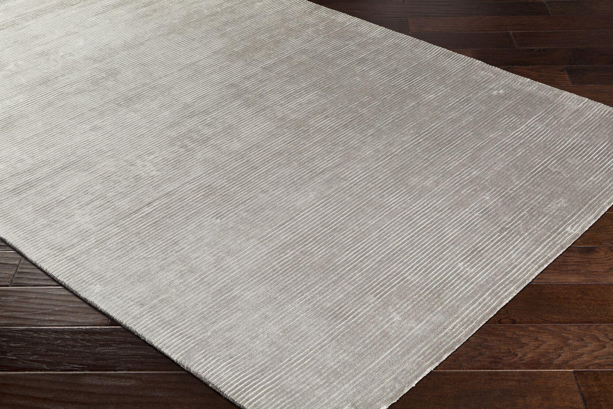 Aurora Hand Woven Medium Gray Area Rug Rug Size: Rectangle 2' x 3'