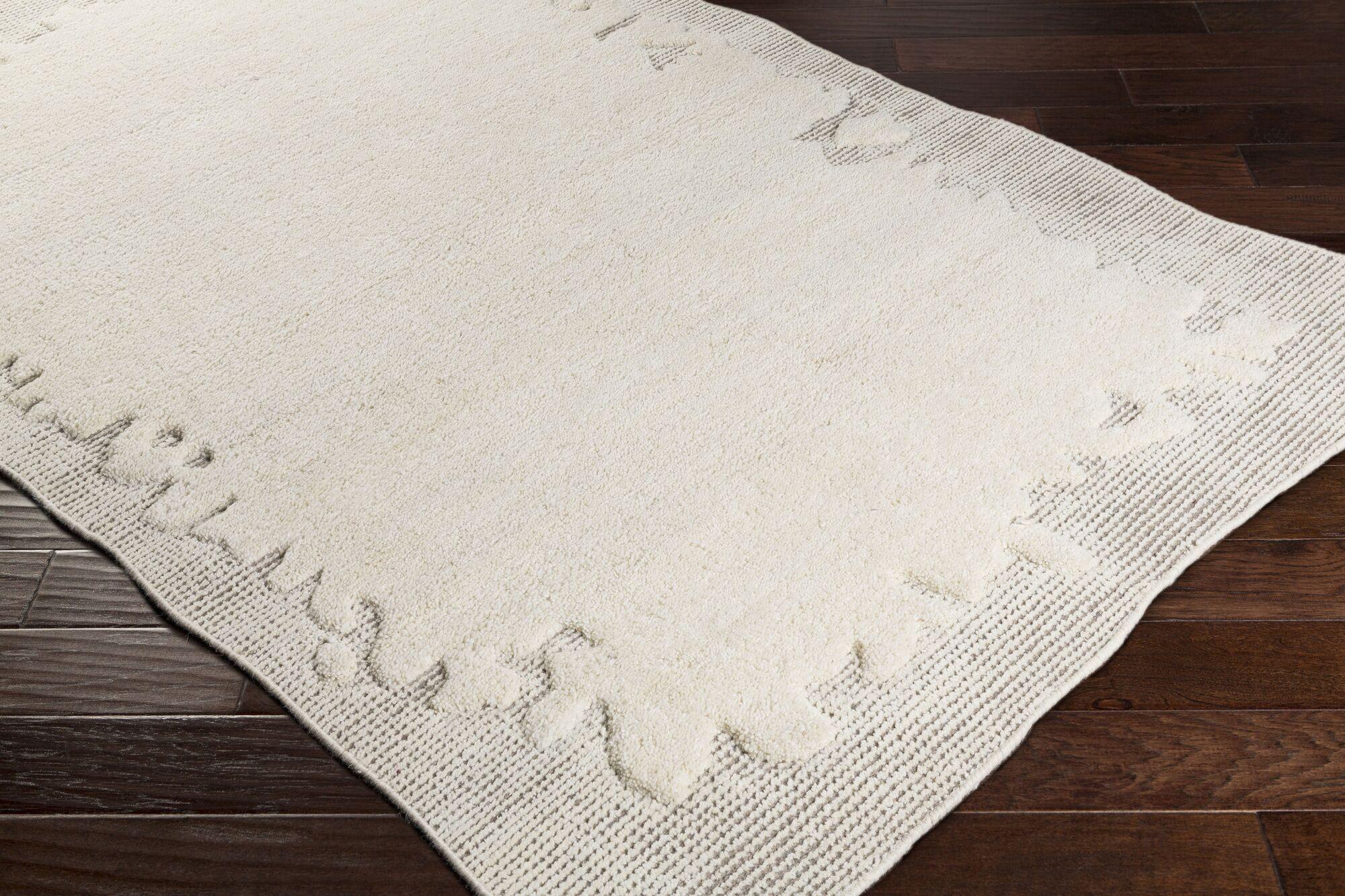 Celinda Hand Woven Wool Cream/Camel Area Rug Rug Size: Rectangle 5' x 8'