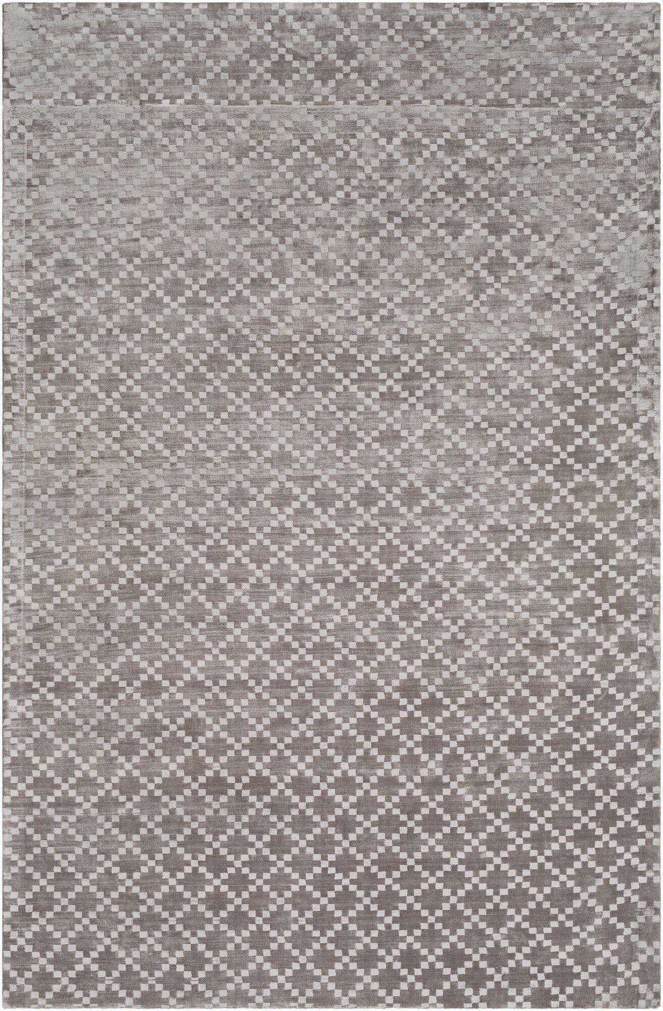 Tudor Hand Woven Medium Gray Area Rug Rug Size: Rectangle 2' x 3'