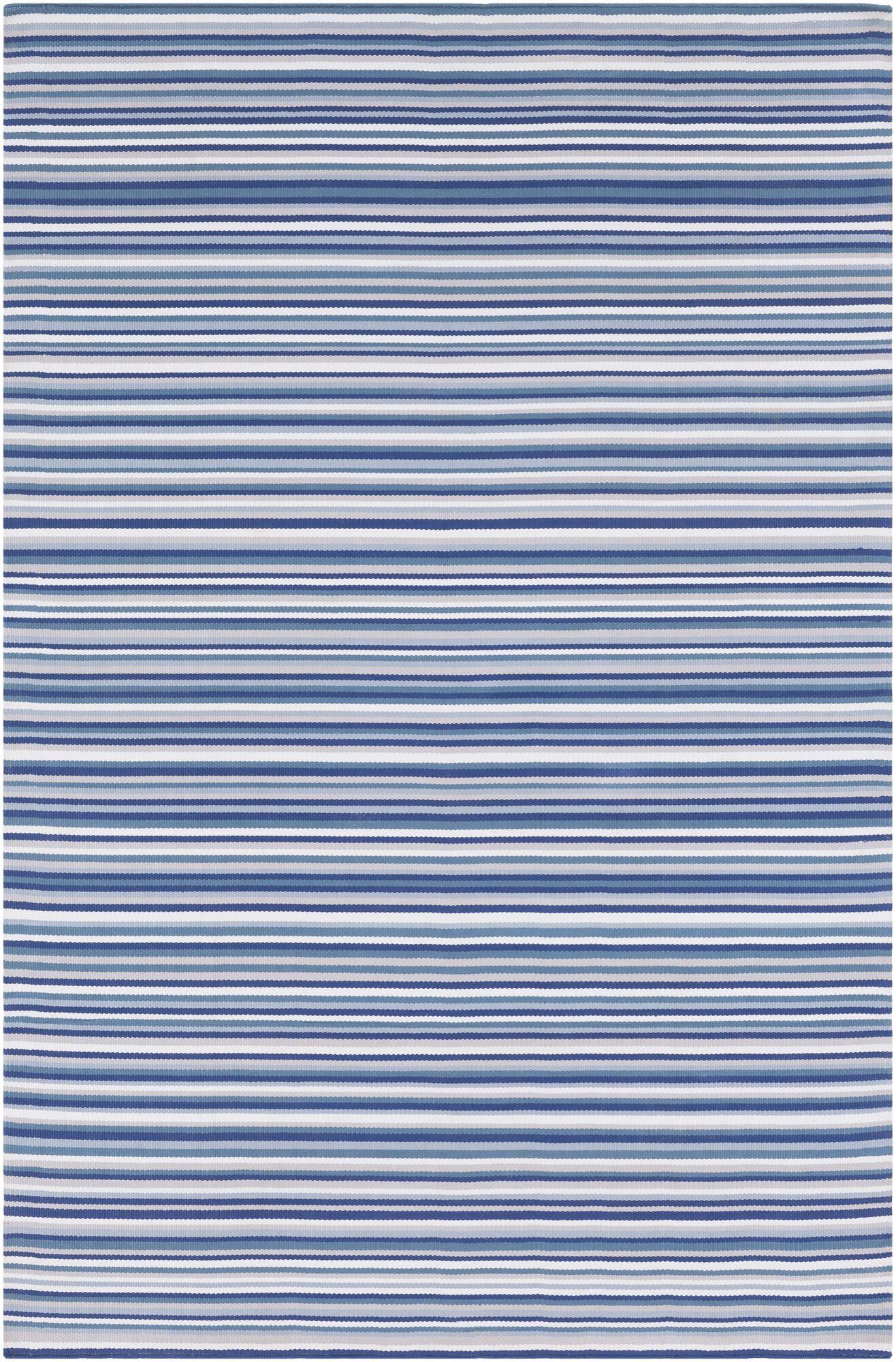 Bybrook Hand Woven Dark Blue Area Rug Rug Size: 8' x 10'