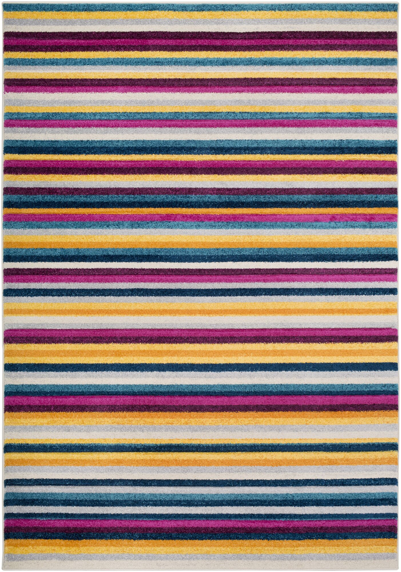 Avianna Modern Striped Yellow/Gray Area Rug Rug Size: Rectangle 7'10