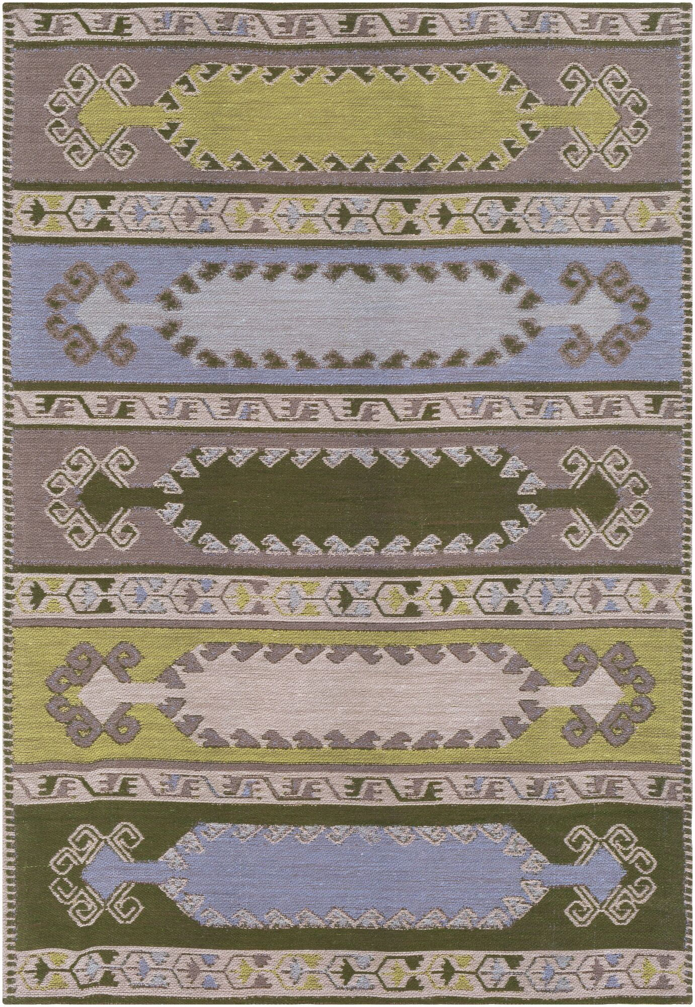 Ridge Manor Transitional Hand Woven Lime/Brown Outdoor Area Rug Rug Size: Rectangle 5' x 7'6