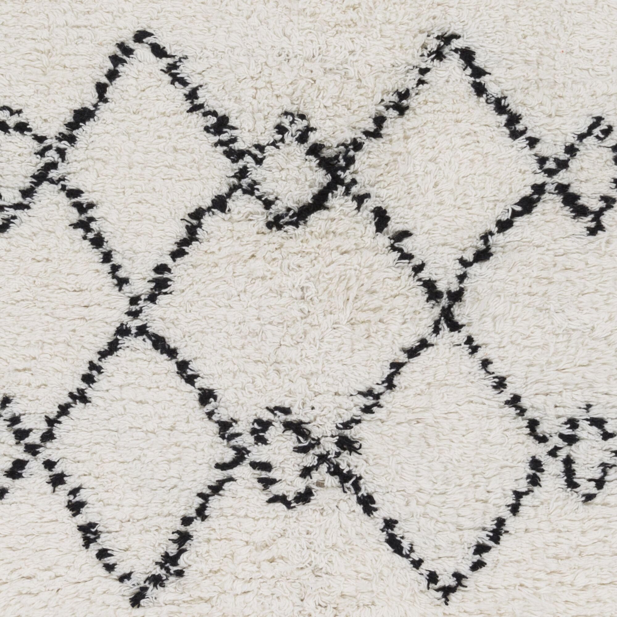 Rayden Geometric Plush Hand Woven Wool Camel Area Rug Rug Size: Rectangle 2' x 3'