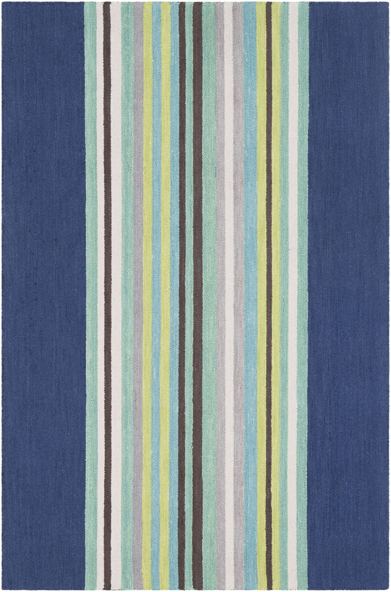 Chatman Hand Tufted Wool Blue/Mint Area Rug Rug Size: Rectangle 8' x 10'