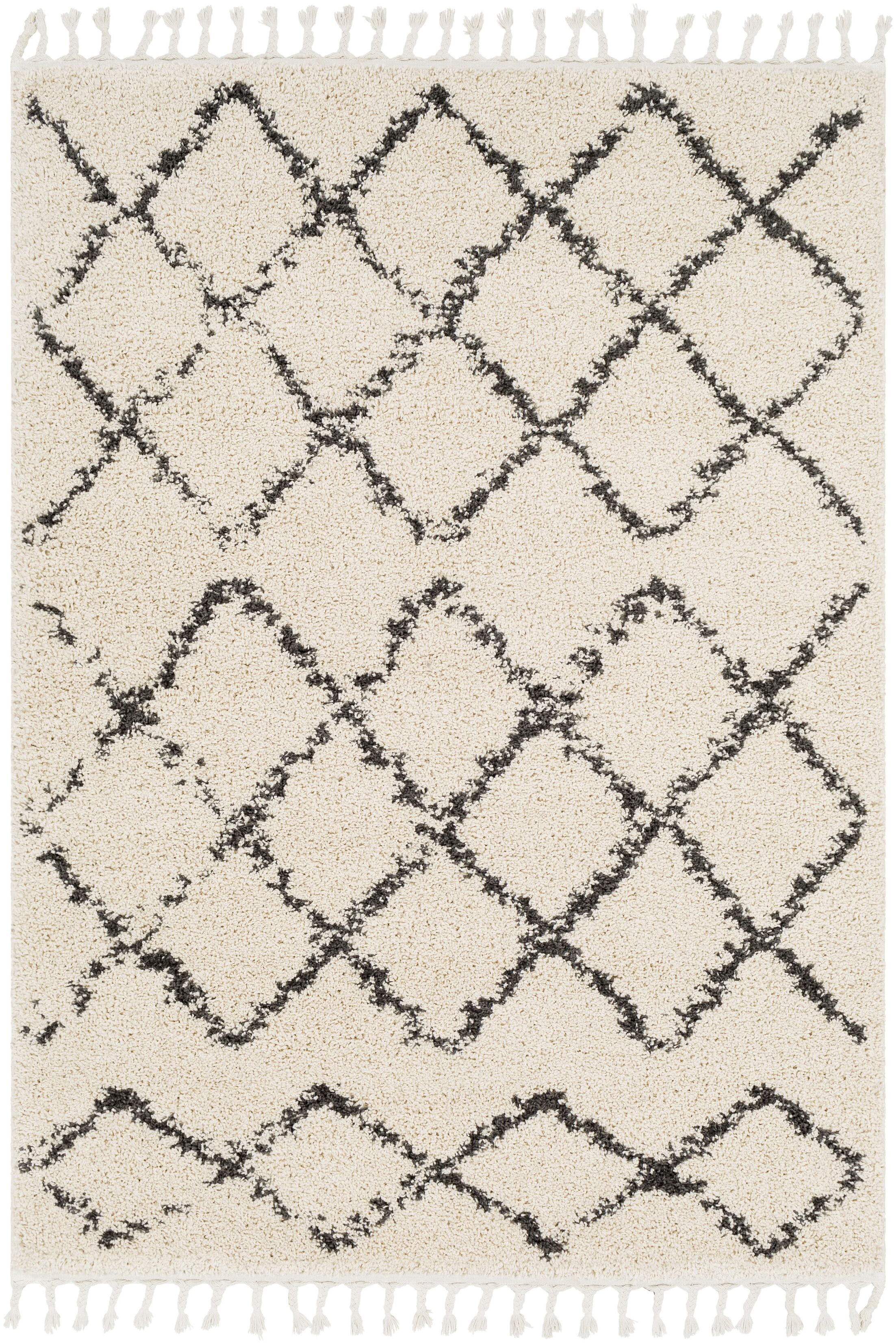 Roger Modern Bohemian Rectangle Beige/Charcoal Area Rug Rug Size: Rectangle 7'10