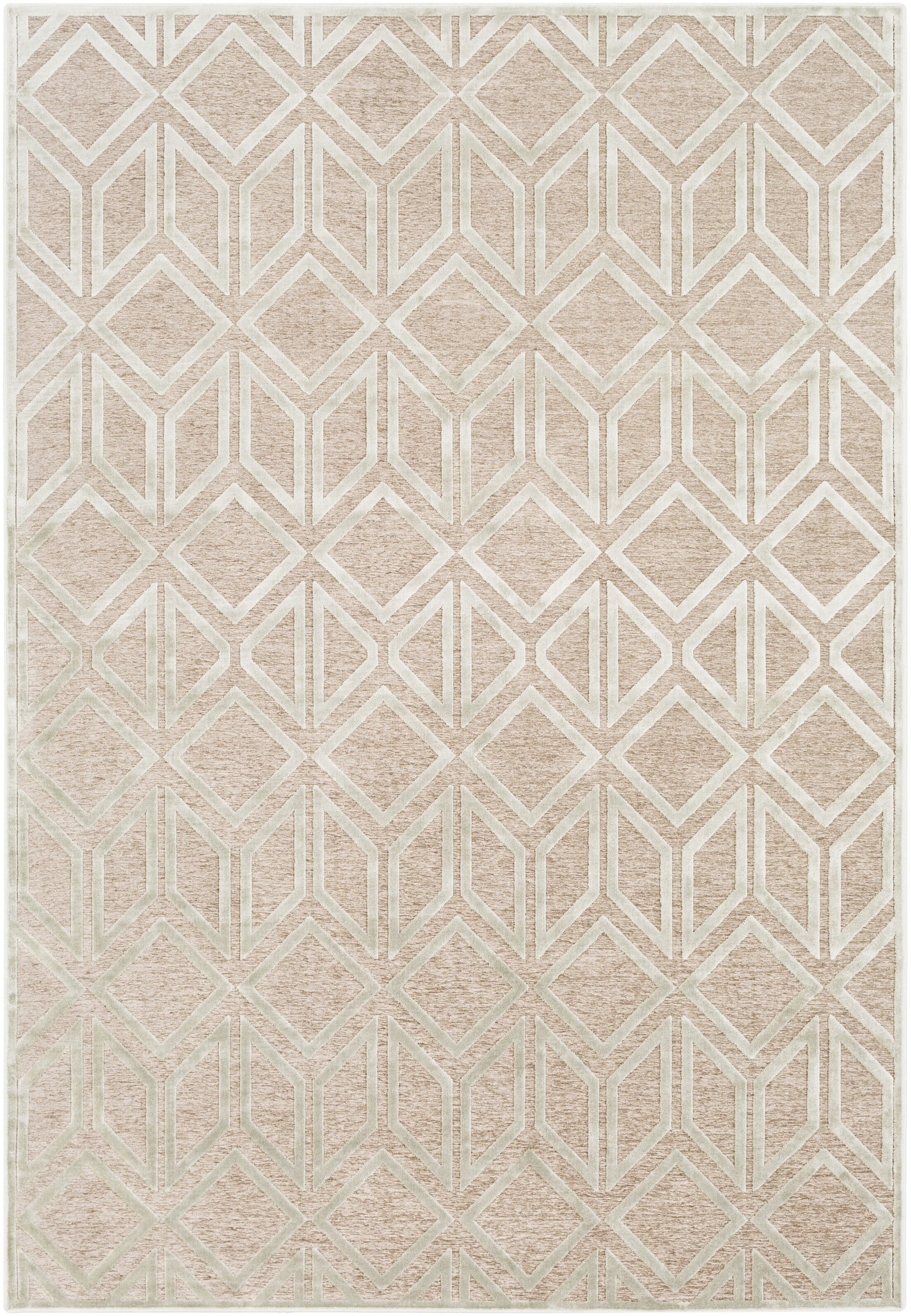 Lucius Modern Geometric Taupe/Seafoam Area Rug Rug Size: Rectangle 5'2