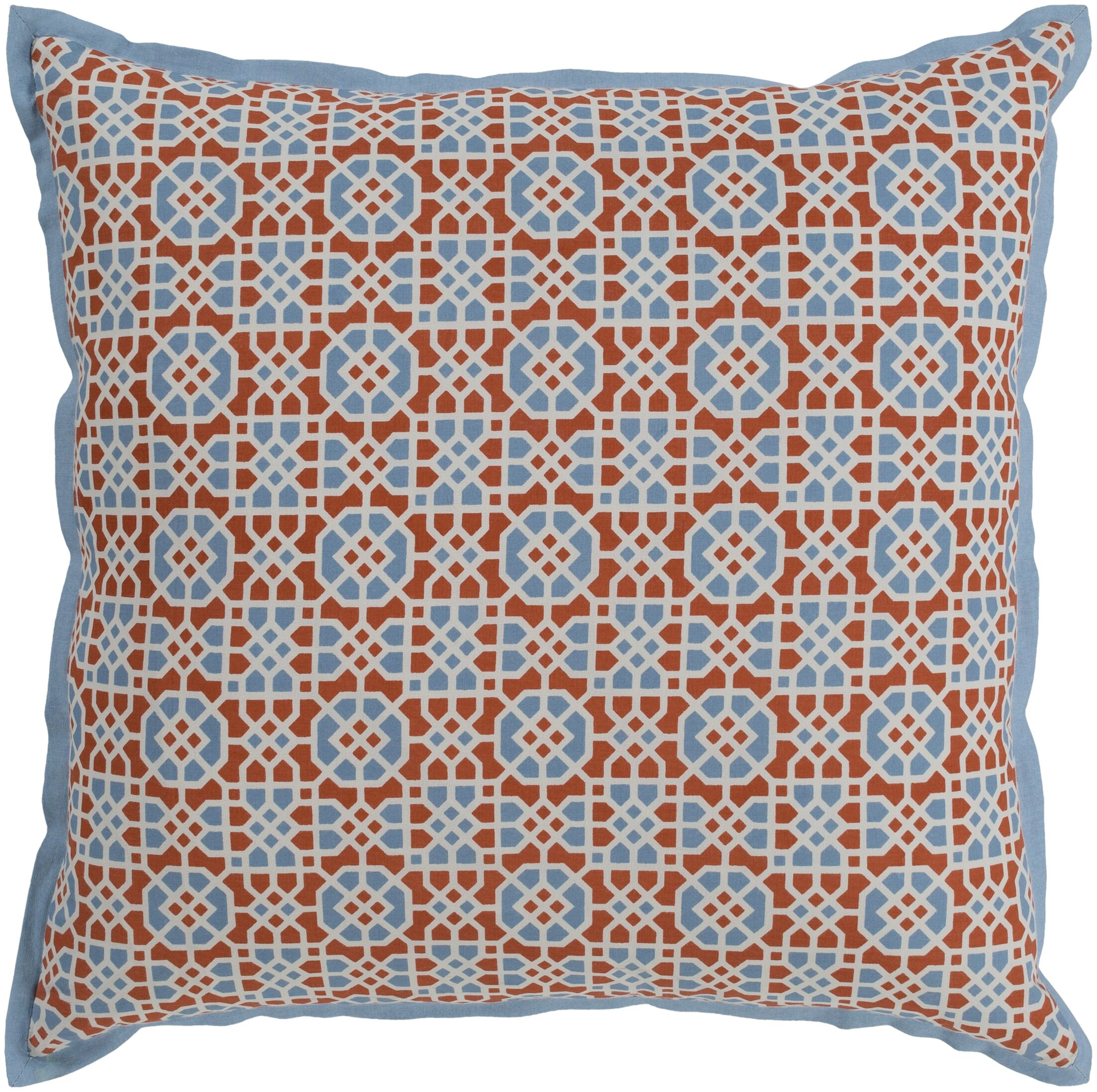 Francesco Bohemian Global Cotton Throw Pillow Fill Material: Down Fill, Size: 20