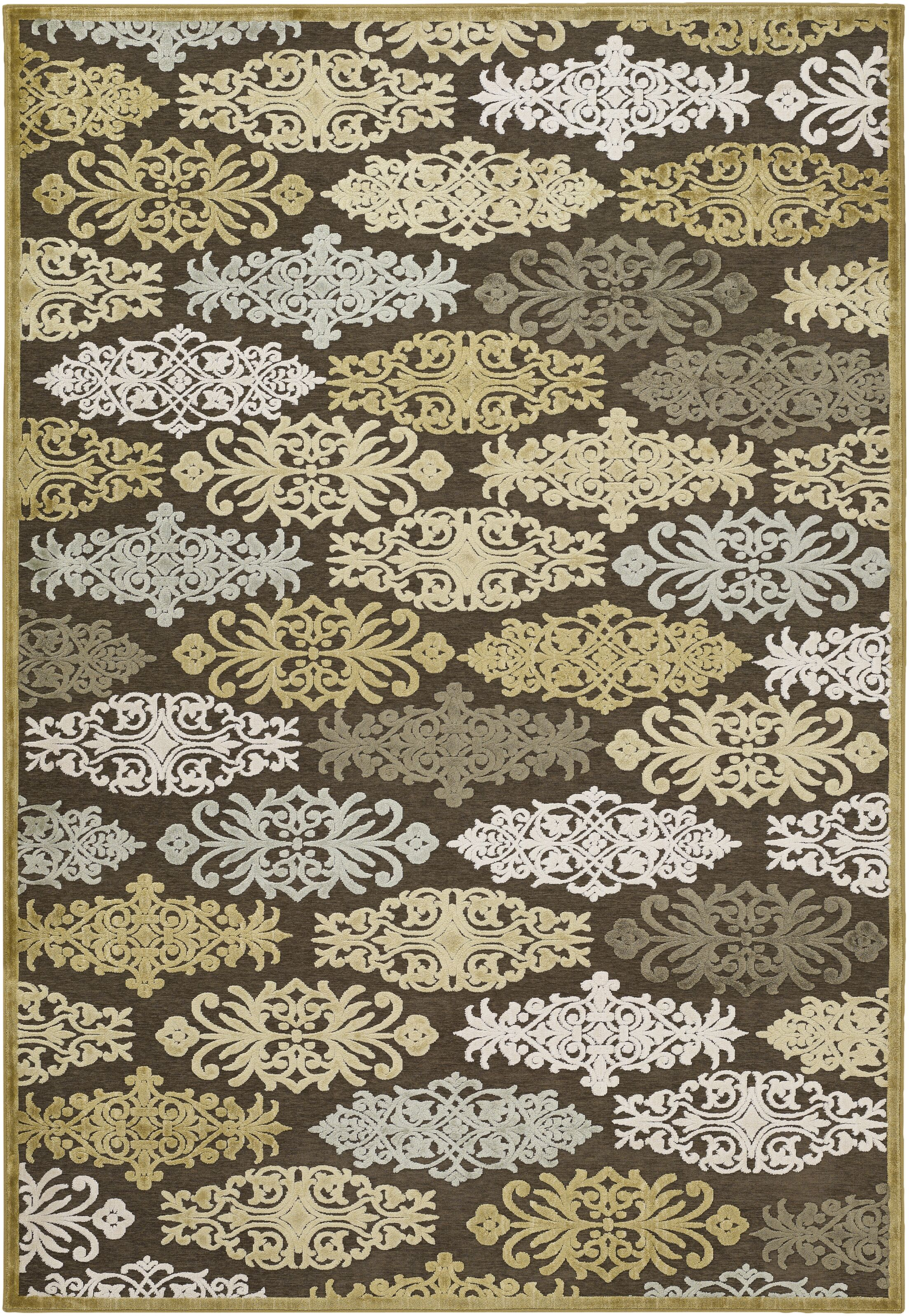 Caseyville Traditional Hand-Woven Brown/Pale Blue Area Rug Rug Size: Rectangle 4' x 5'7