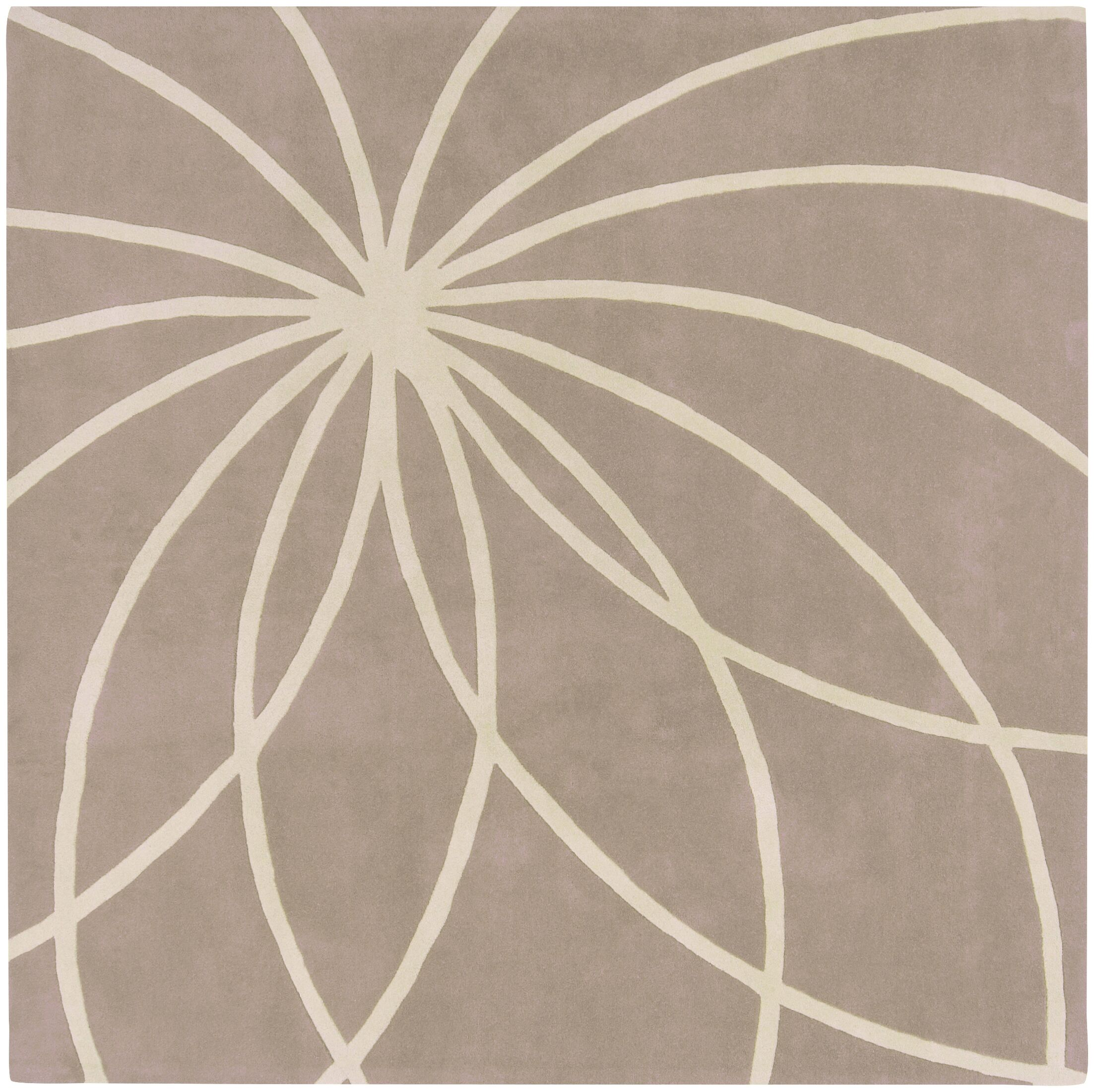 Carnahan Hand-Tufted Wool Khaki/Cream Area Rug Rug Size: Square 8'