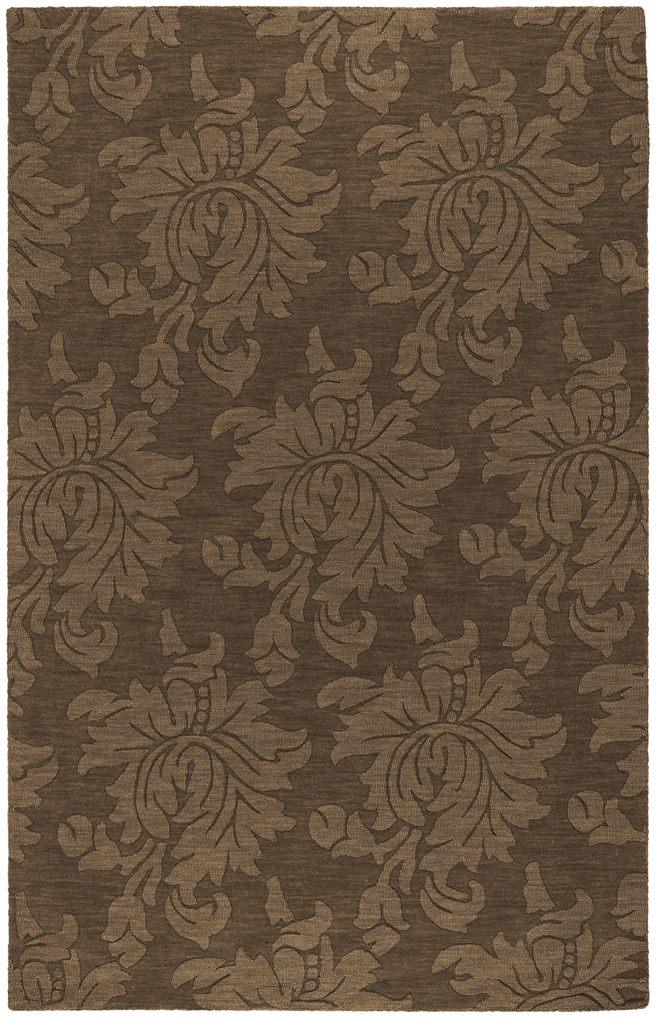 Ardal Hand-Woven Wool Coffee/Mocha Area Rug Rug Size: Rectangle 8' x 10'