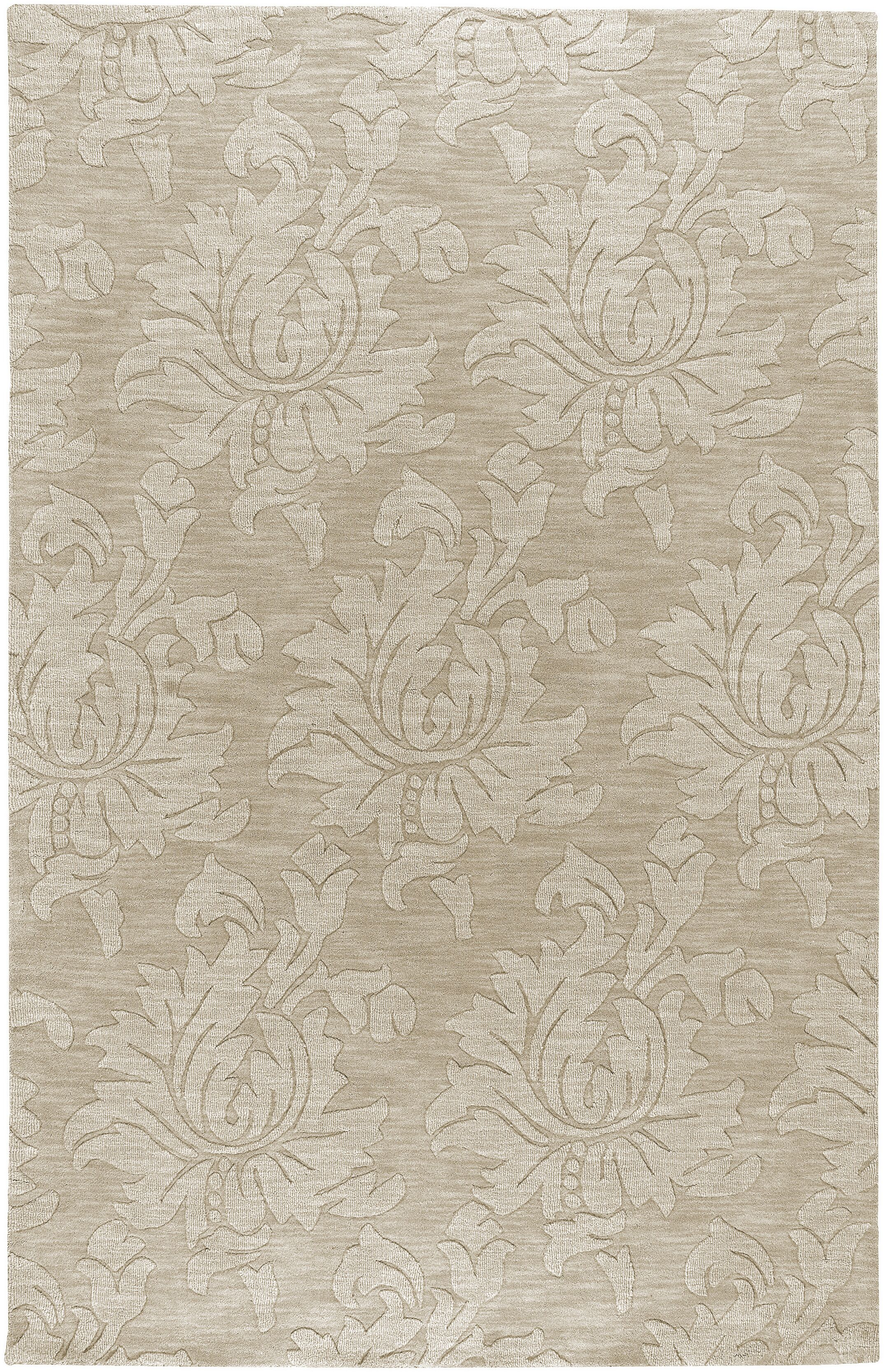 Ardal Hand-Woven Wool Beige Area Rug Rug Size: Rectangle 8' x 10'