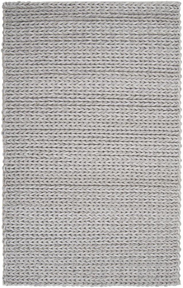 Mathews Hand Woven Wool Gray Area Rug Rug Size: Rectangle 5' x 8'