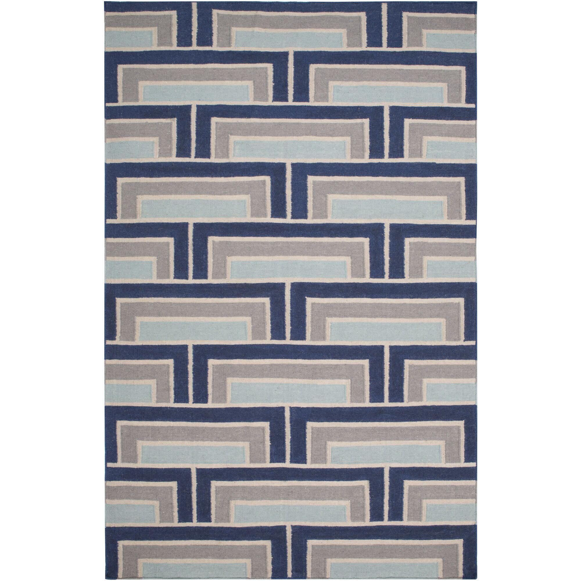 Paddington Navy/Light Gray Geometric Area Rug Rug Size: 2' x 3'