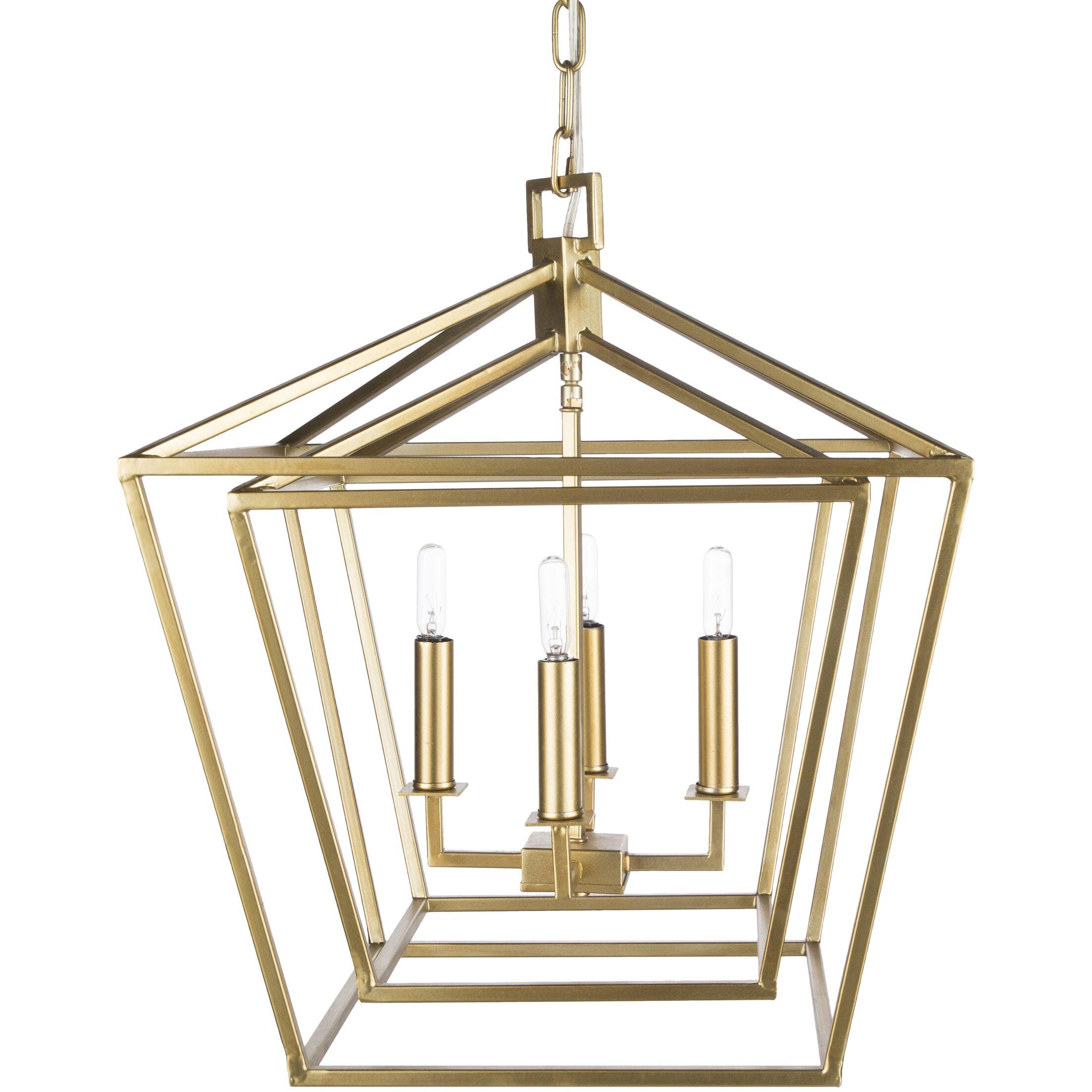 Susanna Transitional 4-Light Lantern Chandelier Size: 144