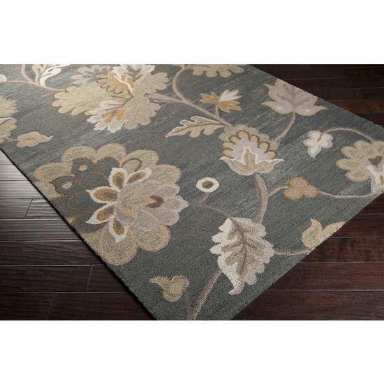 Quincy Hand-Woven Pewter Area Rug Rug Size: Rectangle 5' x 8'