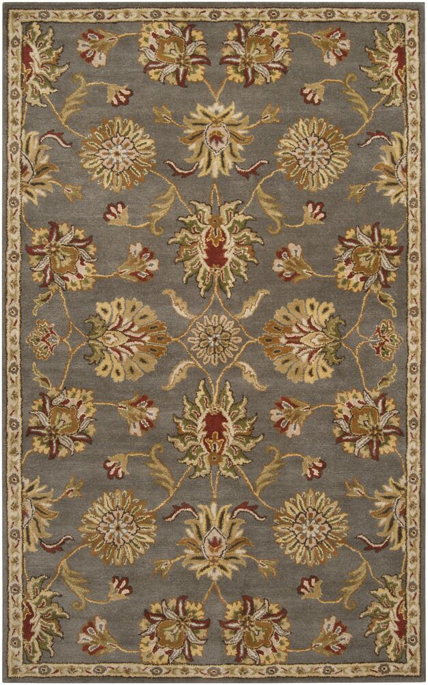 Queenswood Gray/Gold Rug Rug Size: Rectangle 8' x 10'