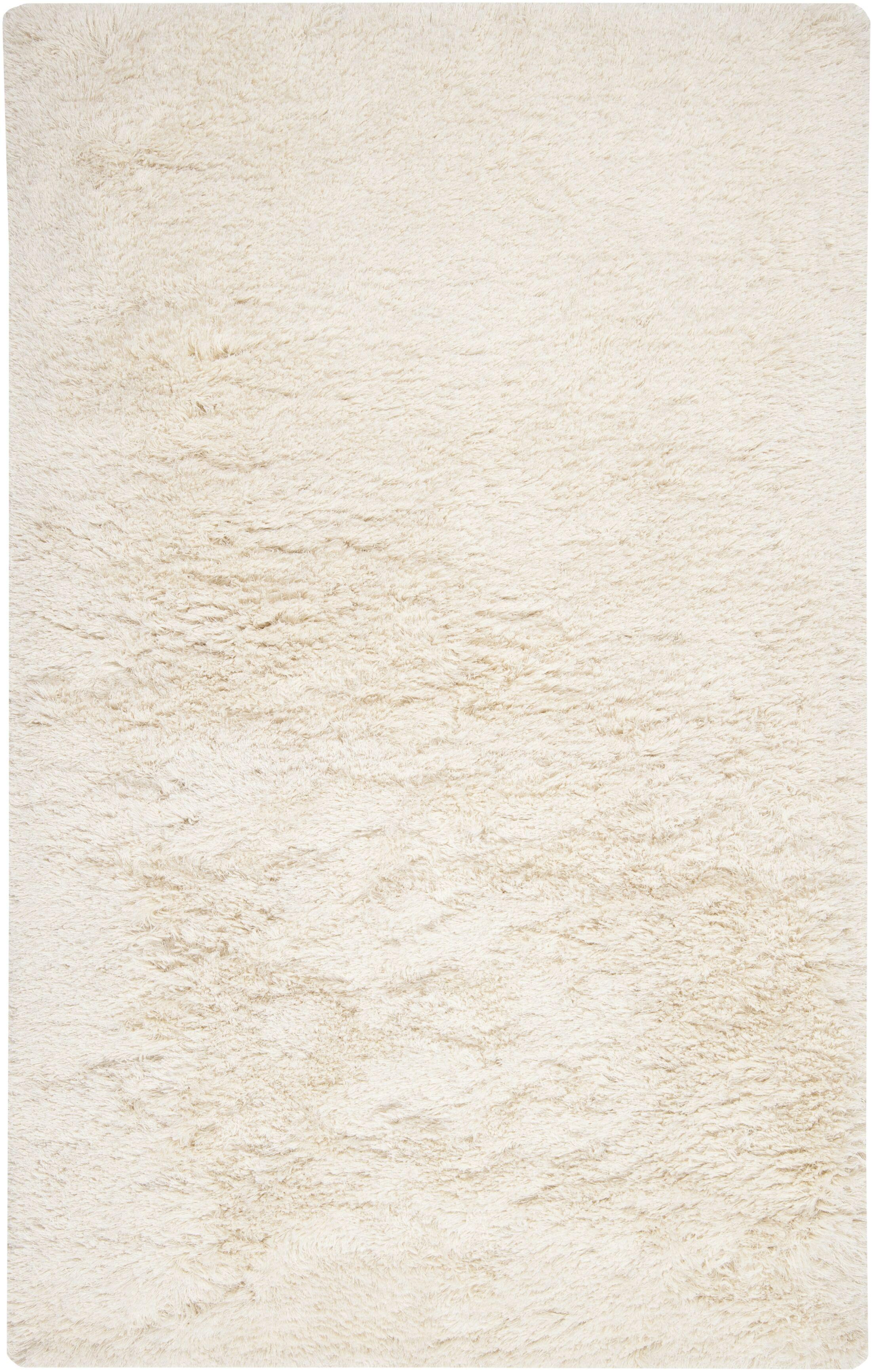 Halpern Hand Woven Wool White Area Rug Rug Size: Rectangle 5' x 8'