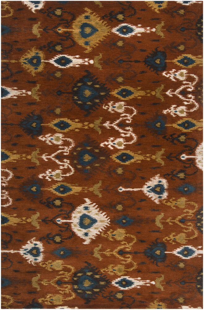Alica Rust Rug Rug Size: Rectangle 9' x 13'