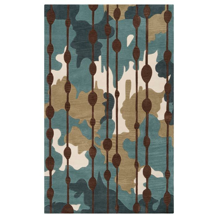 Marcela Slate Blue/Palm Green Rug Rug Size: Rectangle 3'3